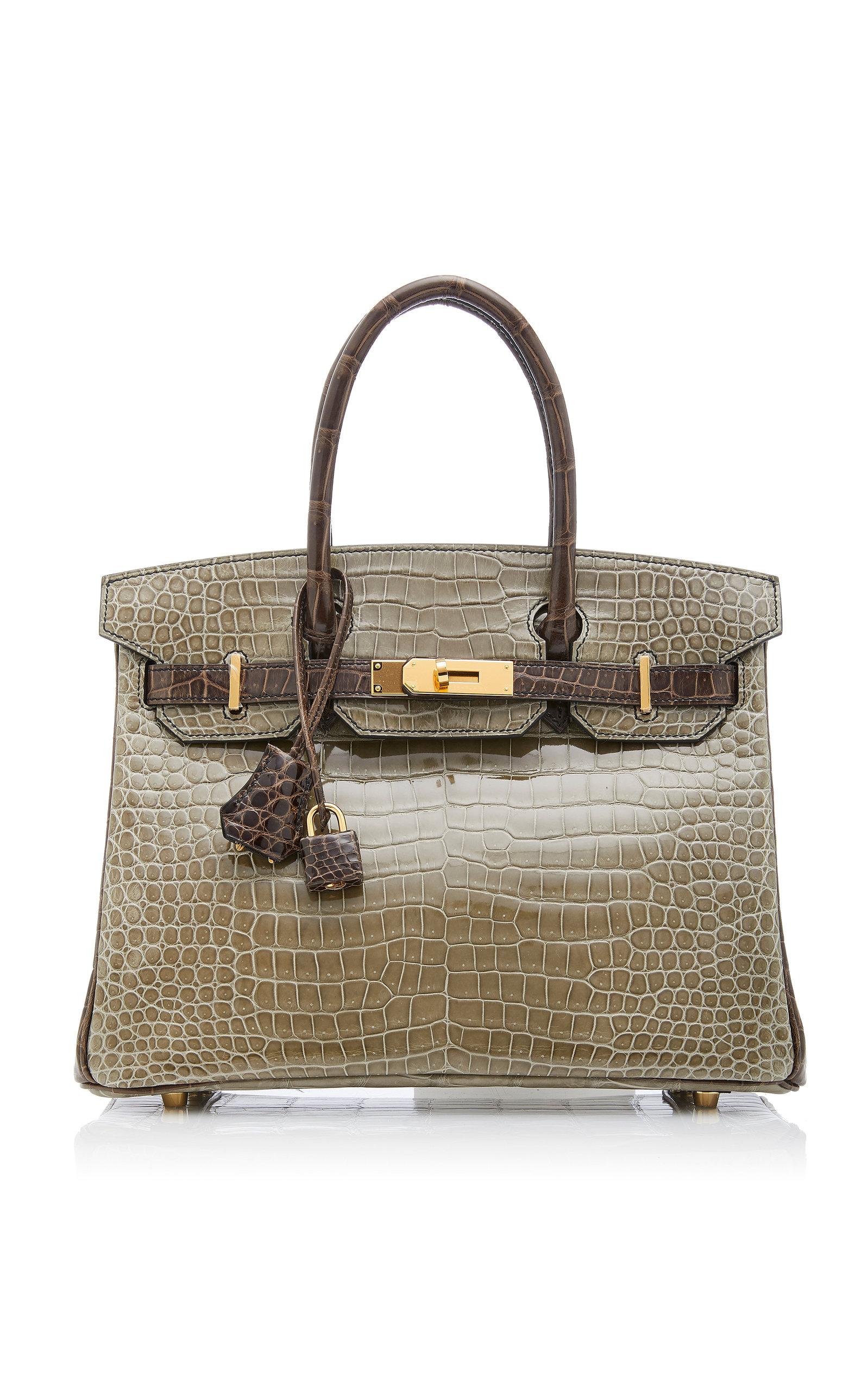 4b496513dd60 Hermès Vintage by Heritage AuctionsHermès 30cm Gris Elephant and Gris  Tourterelle Crocodile Birkin. CLOSE. Loading