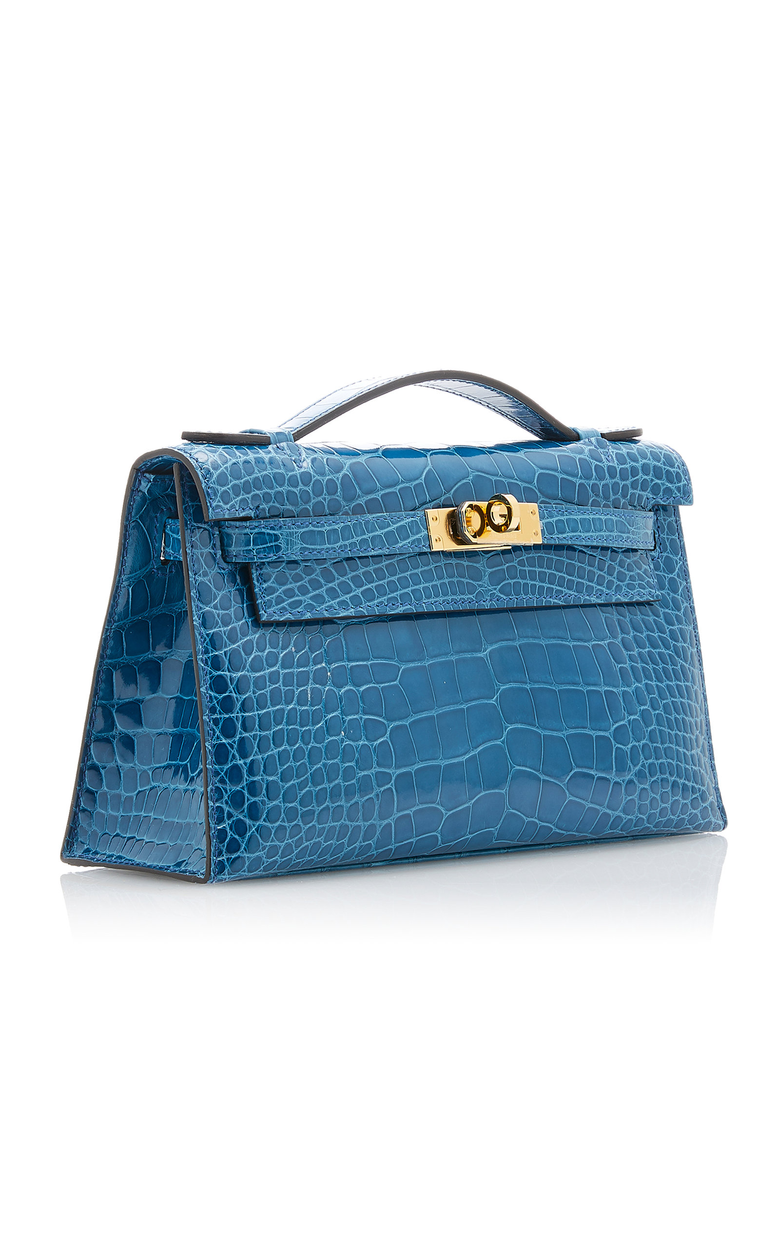 bc3fef805fa8 Hermès Vintage by Heritage AuctionsHermès Shiny Mykonos Alligator Kelly  Pochette. CLOSE. Loading. Loading. Loading