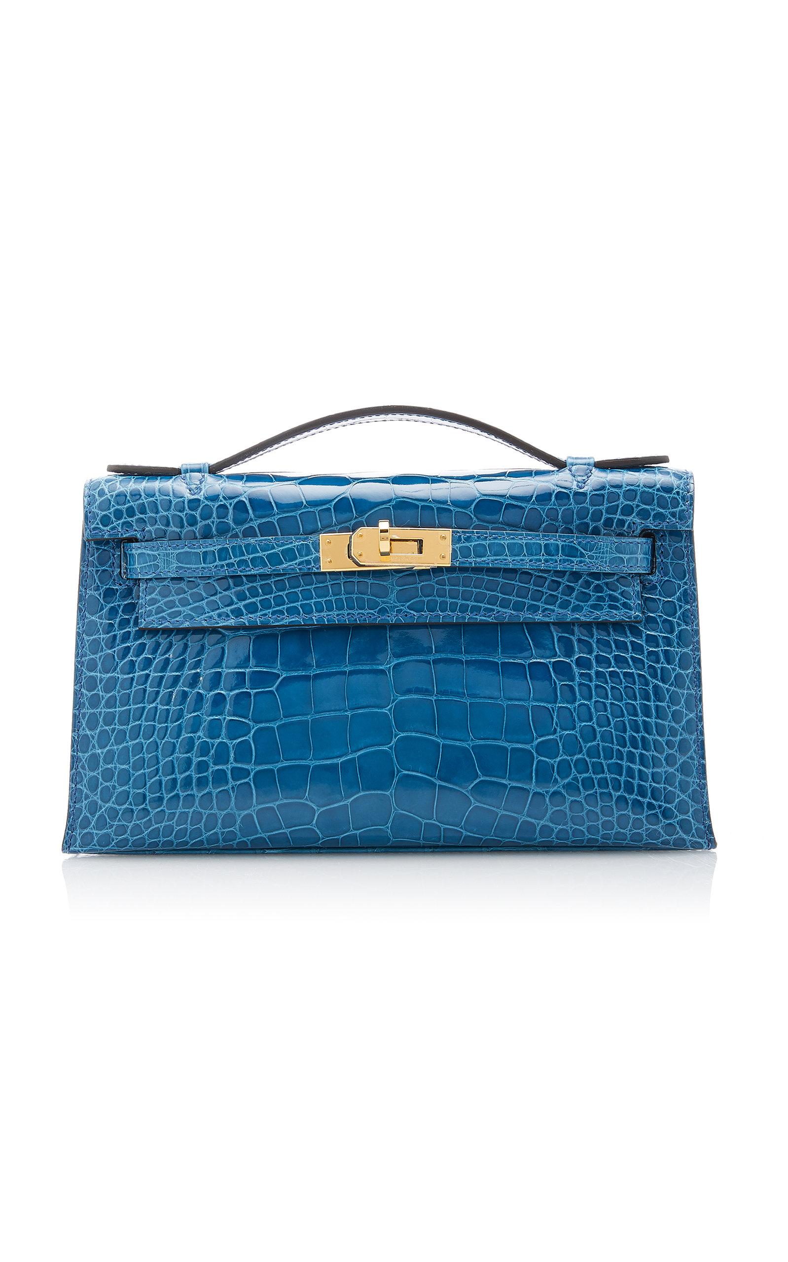 Hermès Shiny Mykonos Alligator Kelly Pochette
