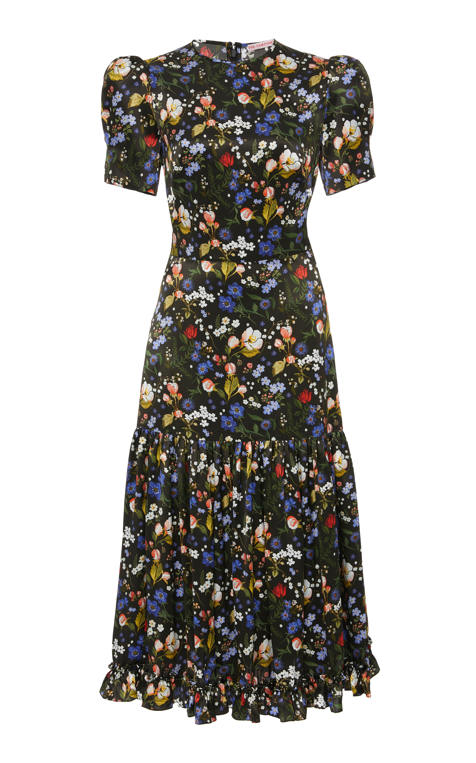 the-hummingbird-floral-print-silk-satin-midi-dress by the-vampires-wife