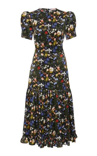 638a588d The Vampire's WifeThe Hummingbird Floral-Print Silk-Satin Midi Dress