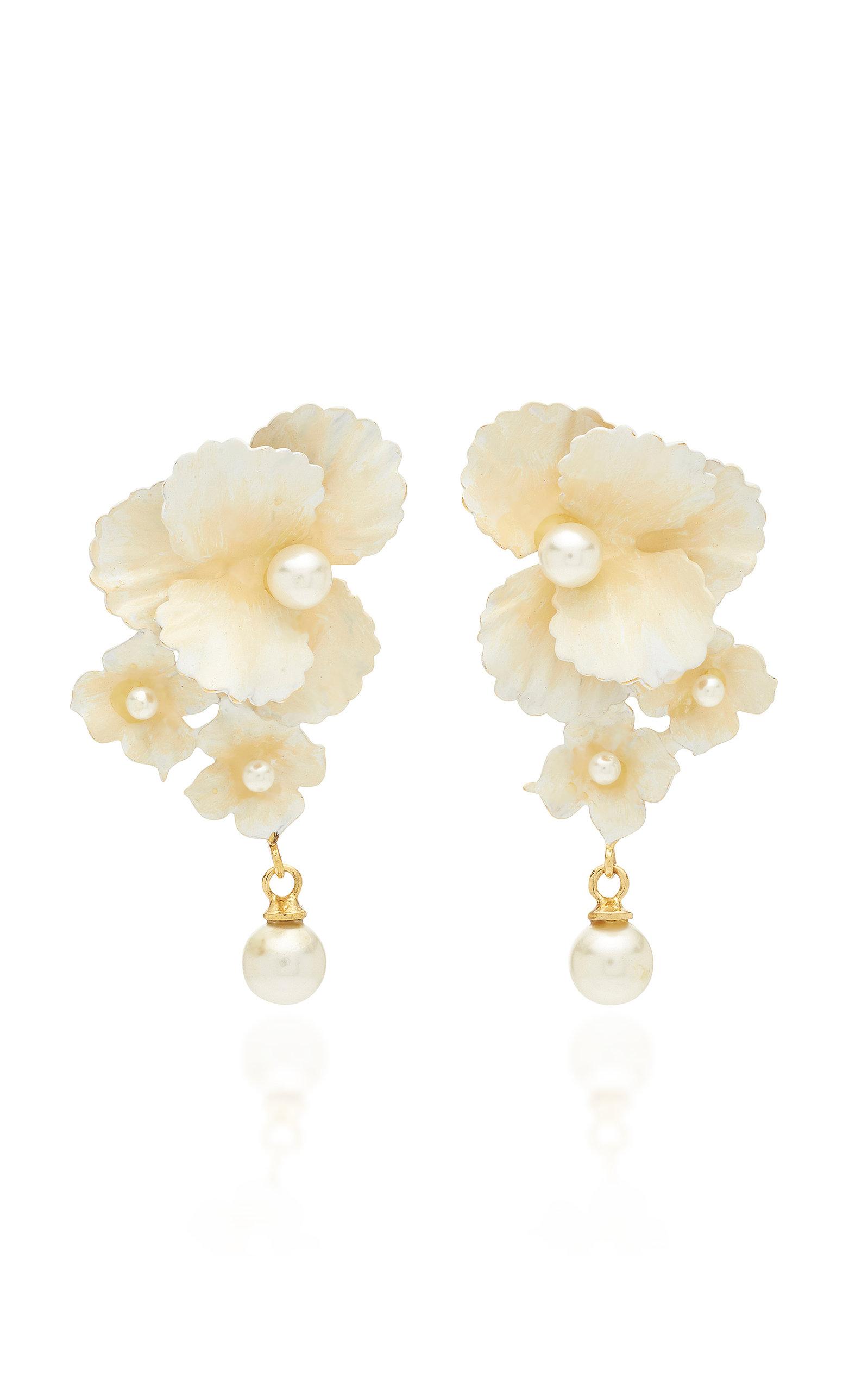 904fb2e93 Sadira Gold-Tone Faux-Pearl Earrings by Jennifer Behr | Moda Operandi