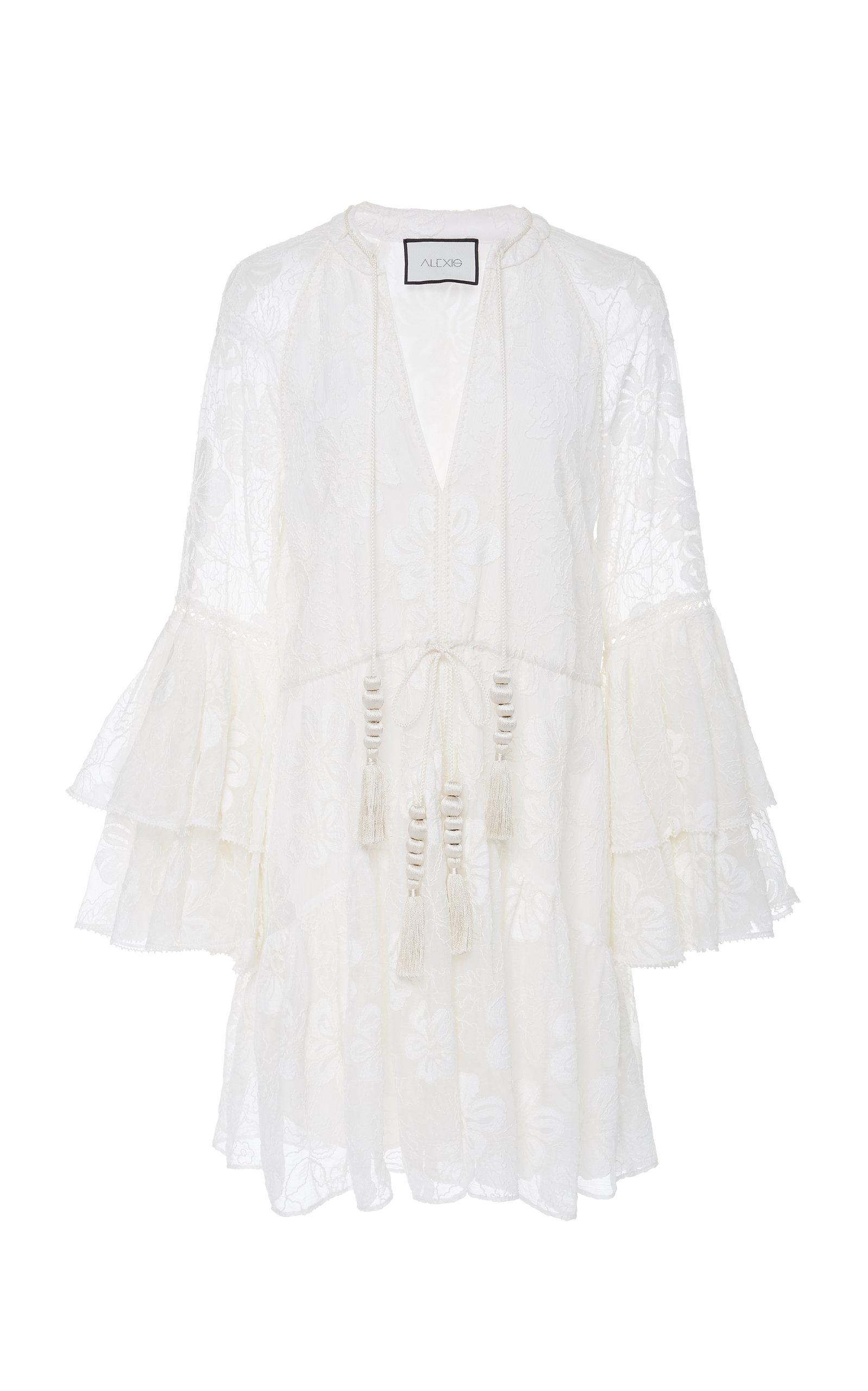 0e279ec03cdb Floriane Ruffled Lace Mini Dress by Alexis | Moda Operandi