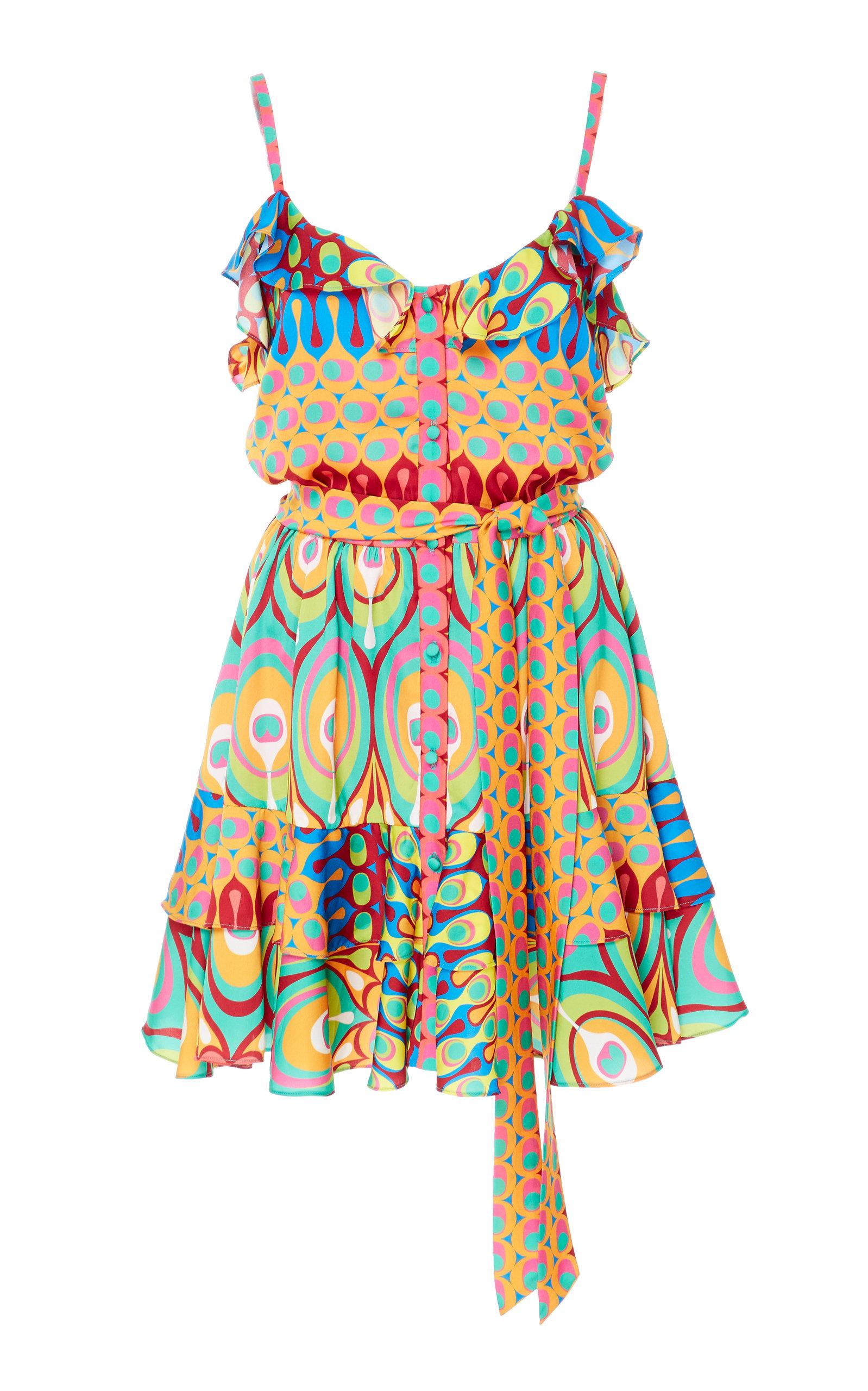 22d66bc1a787 Sirsha Ruffled Printed Mini Dress by Alexis | Moda Operandi