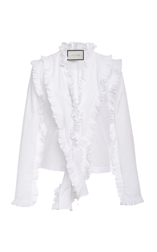 Alexis BURTON RUFFLED COTTON TOP