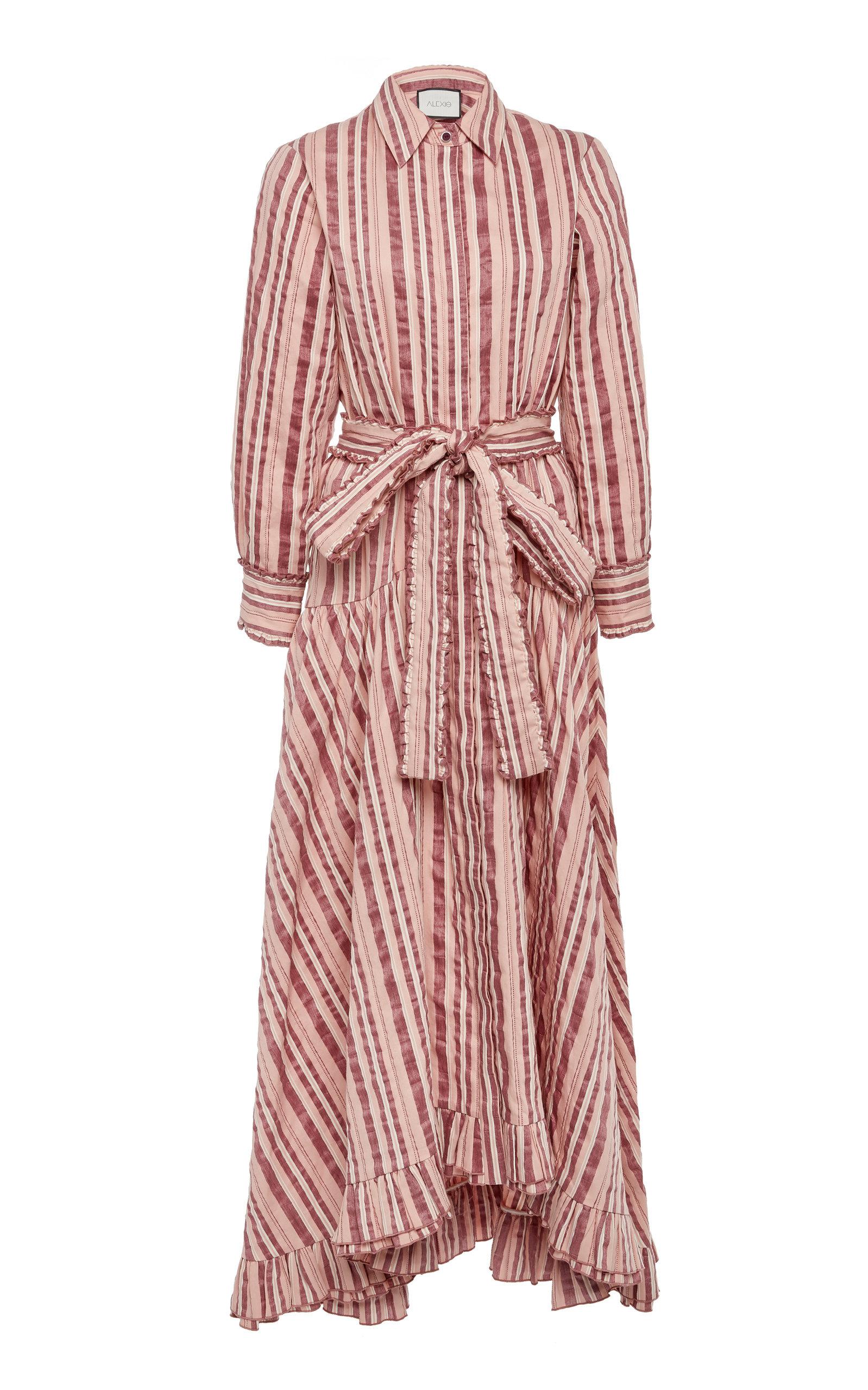 ALEXIS | Alexis Doreen Striped Cotton Midi Dress | Goxip