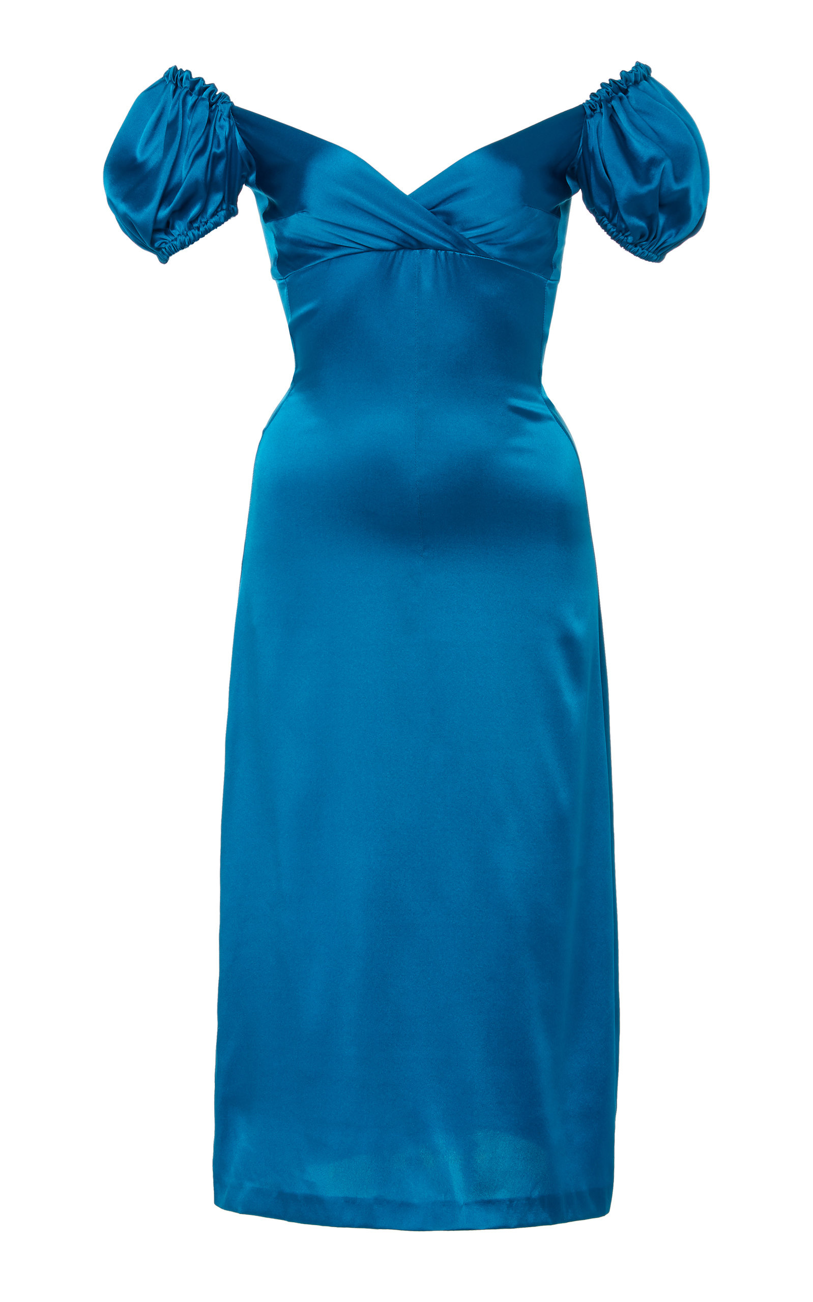 Alexis CADIZ SILK MIDI DRESS