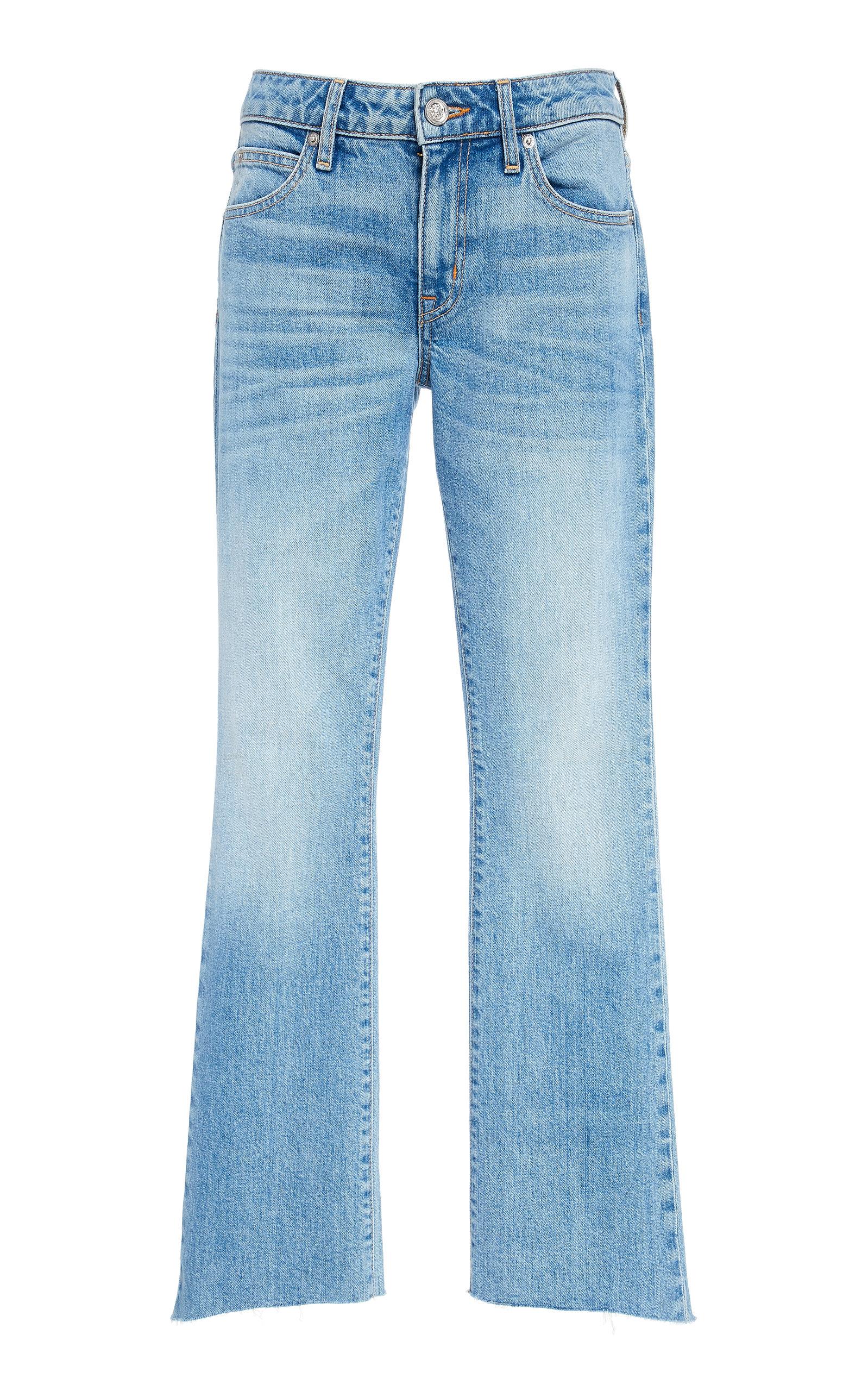 SLVRLAKE DENIM Scarlett Mid-Rise Slim Flared Jeans in Light Wash