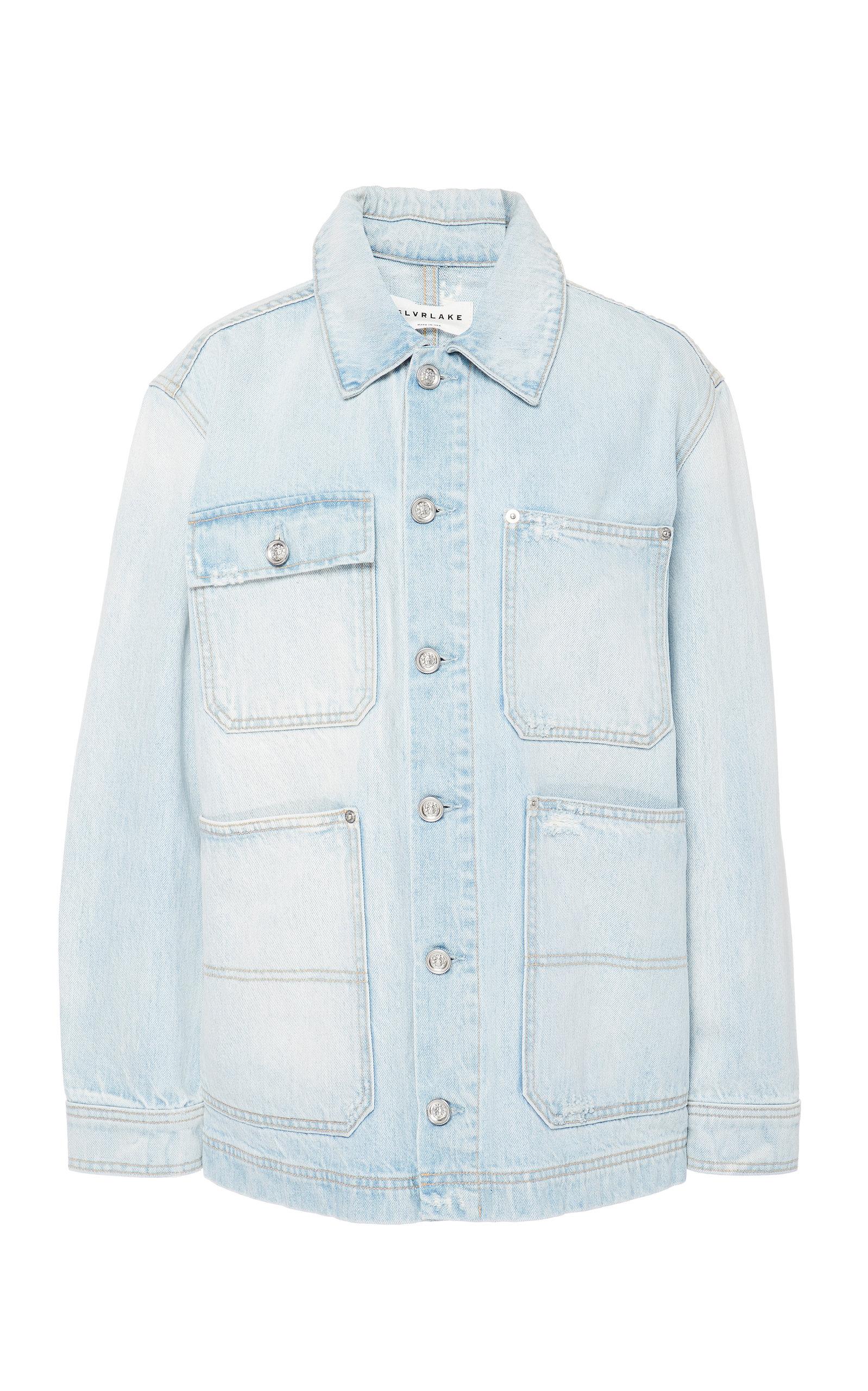 SLVRLAKE DENIM Worker Workwear Denim Jacket in Light Wash