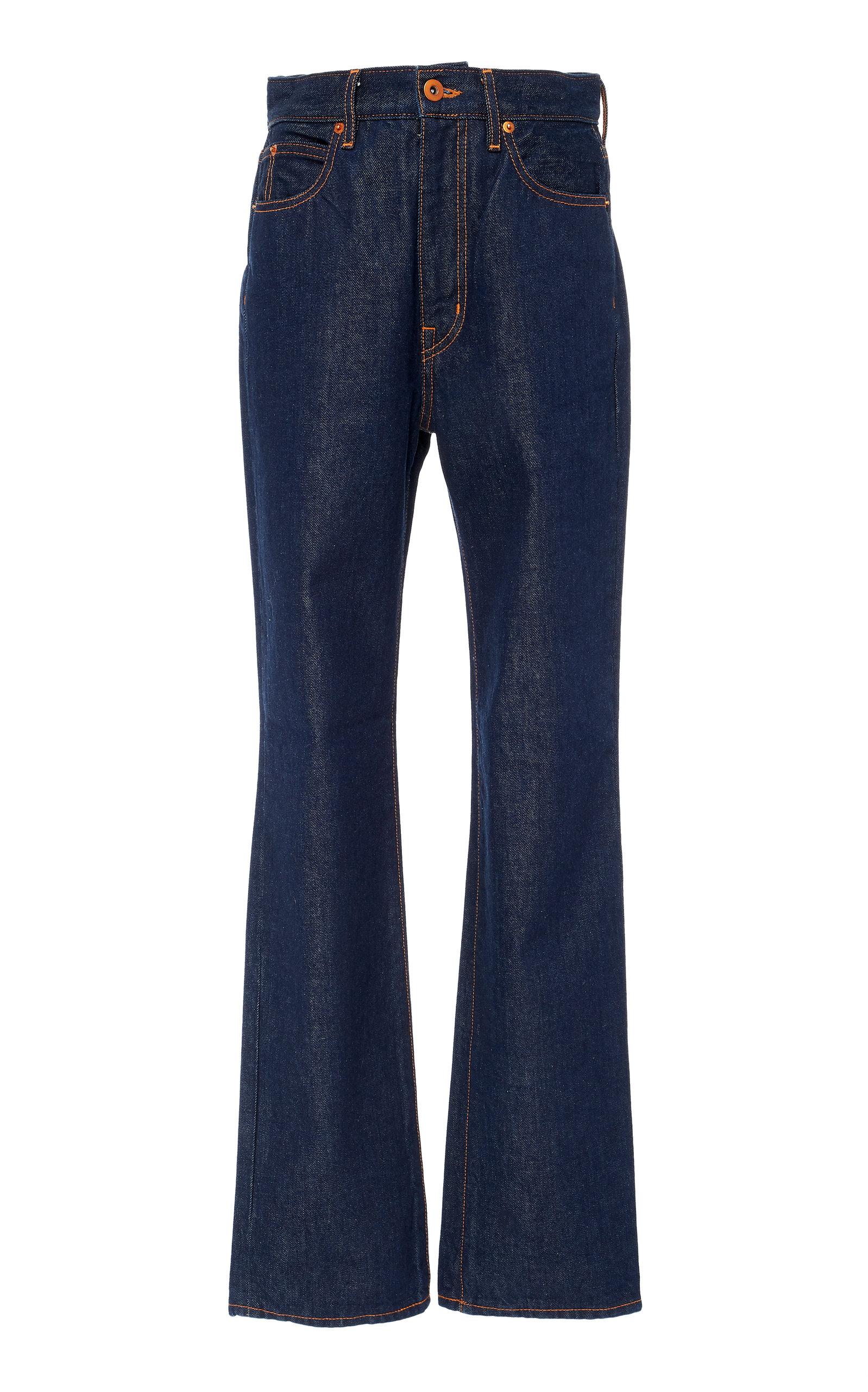 SLVRLAKE DENIM London High-Rise Fit Straight-Leg Jeans in Dark Wash