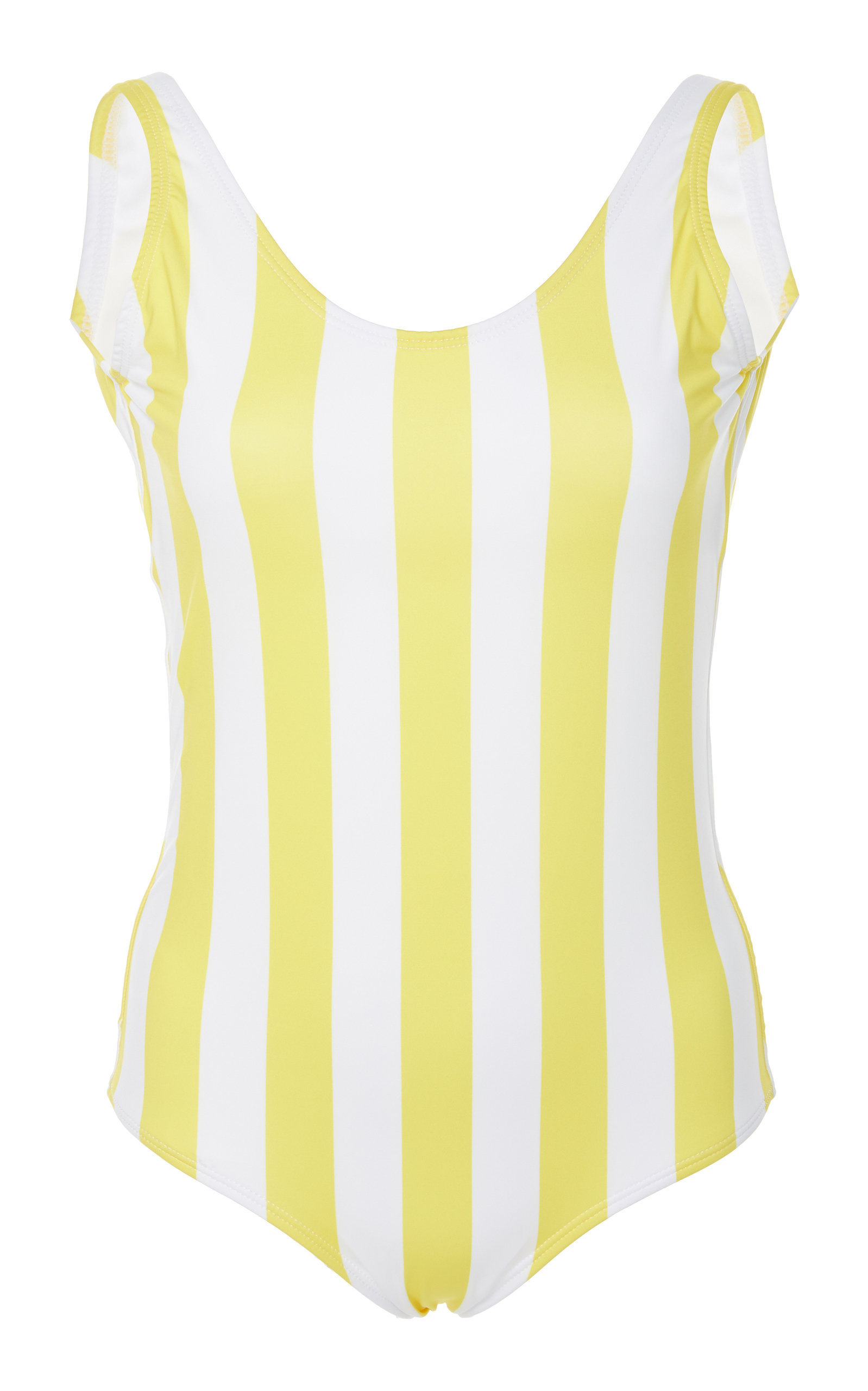 VERDE LIMON Trinidad Backless One Piece Swimsuit in Yellow