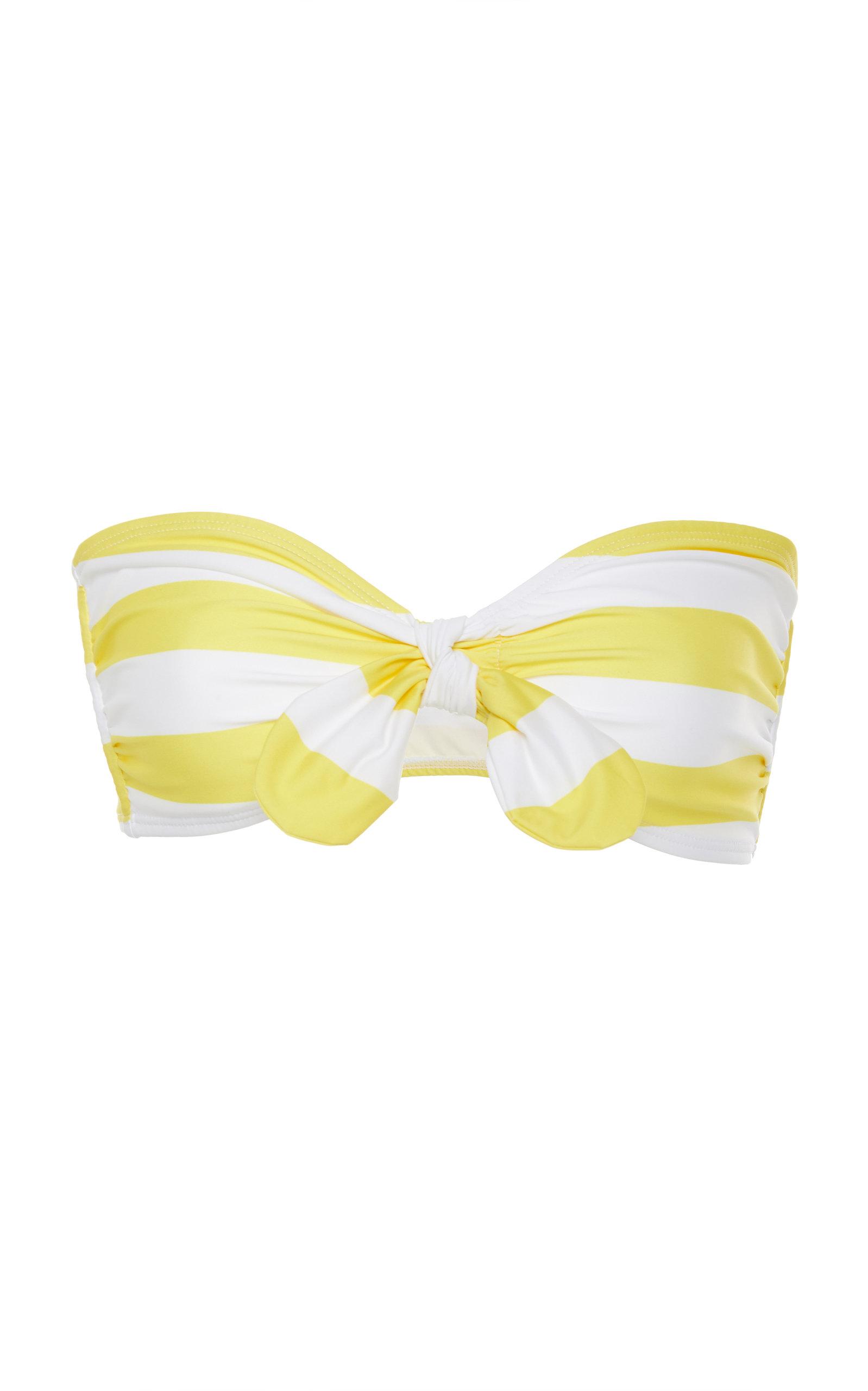 VERDE LIMON Malibu Bandeau Bikini Top in Yellow