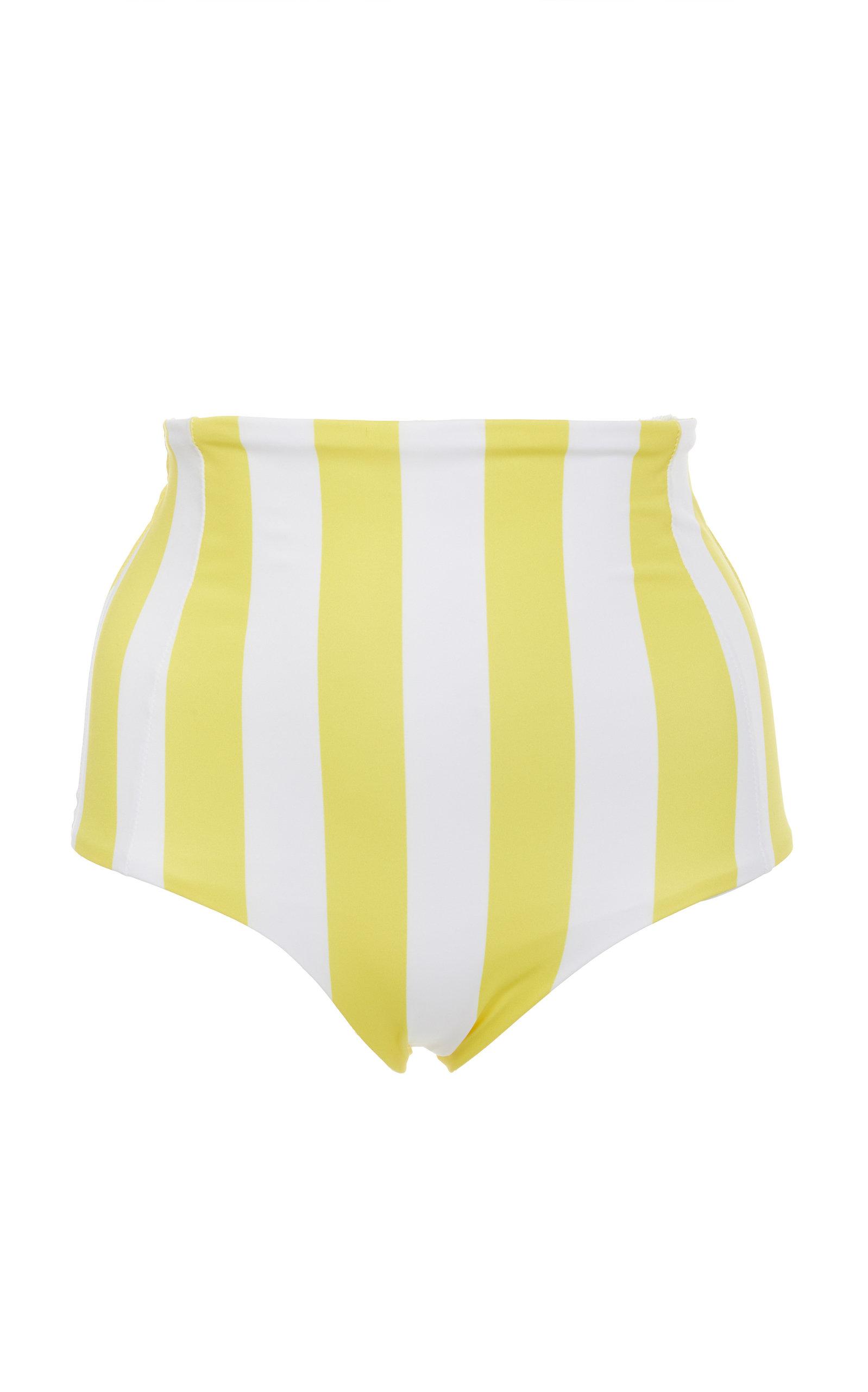 VERDE LIMON Banes High Waisted Bikini Bottoms in Yellow