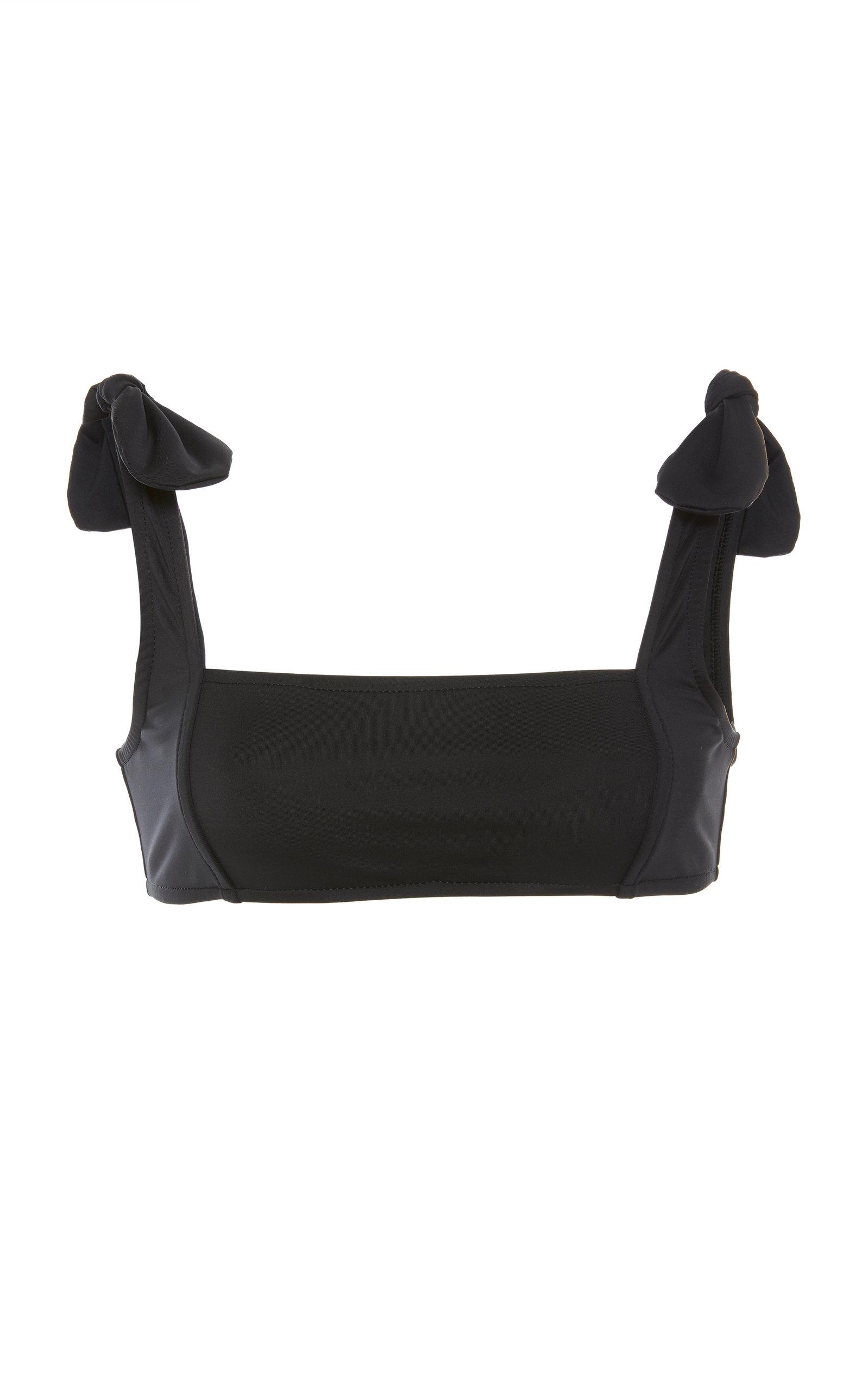 VERDE LIMON Morioka Square Neck Bikini Top in Black
