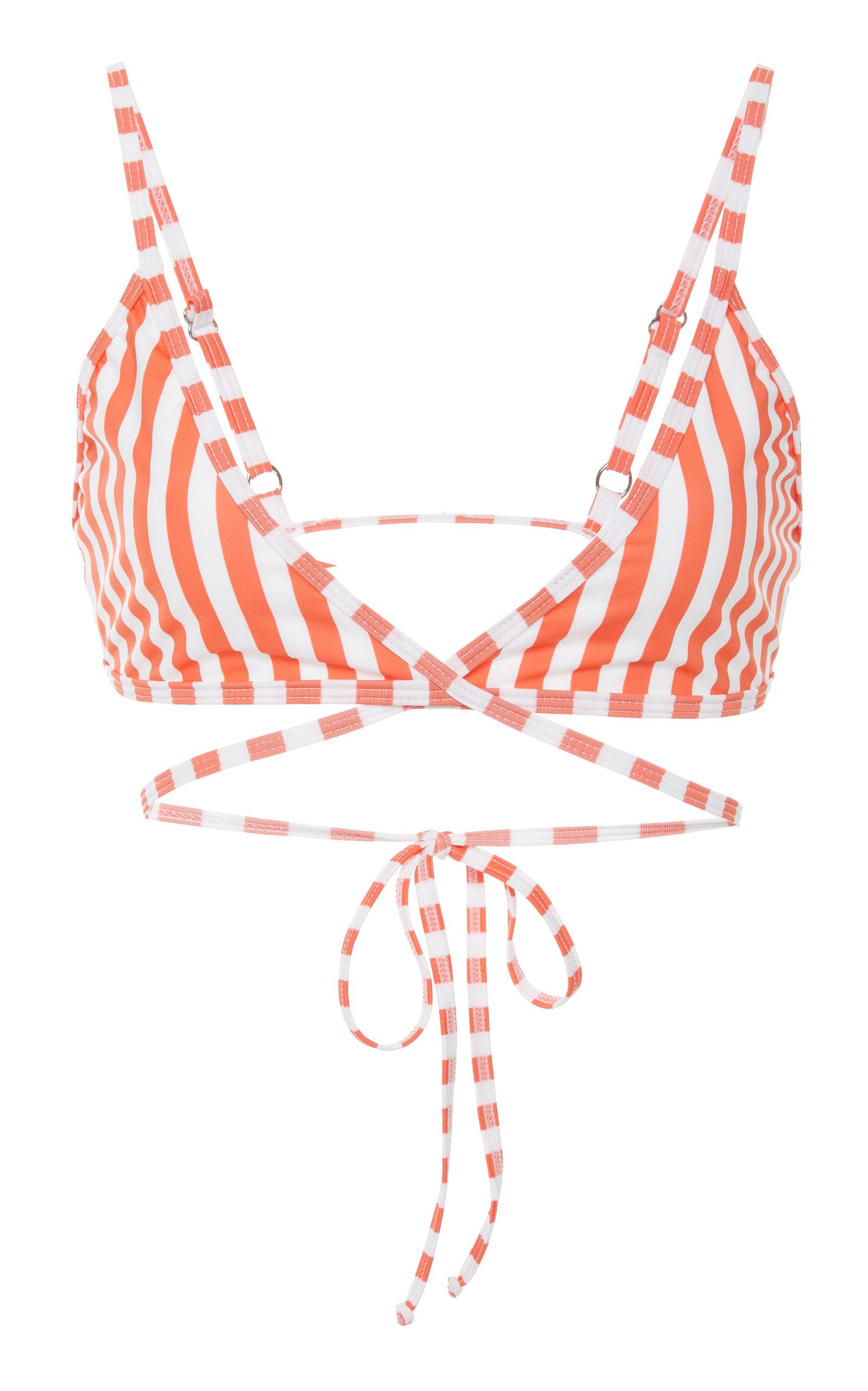 VERDELIMON Merida Crossed Bikini Top in Red