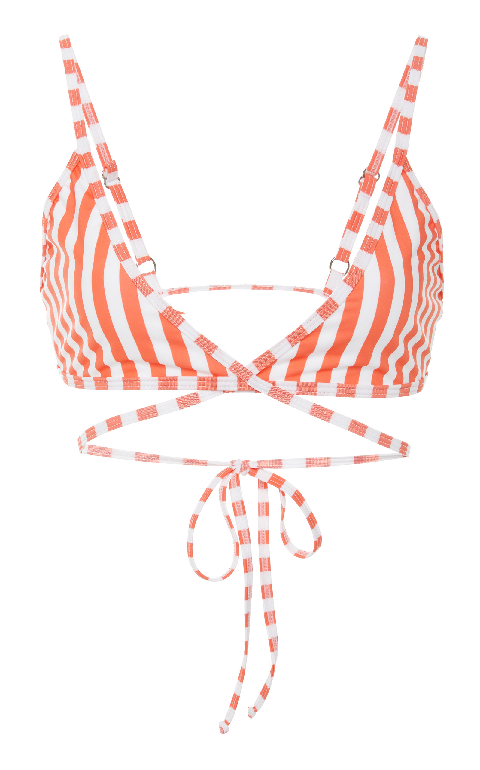 VERDE LIMON Merida Crossed Bikini Top in Red