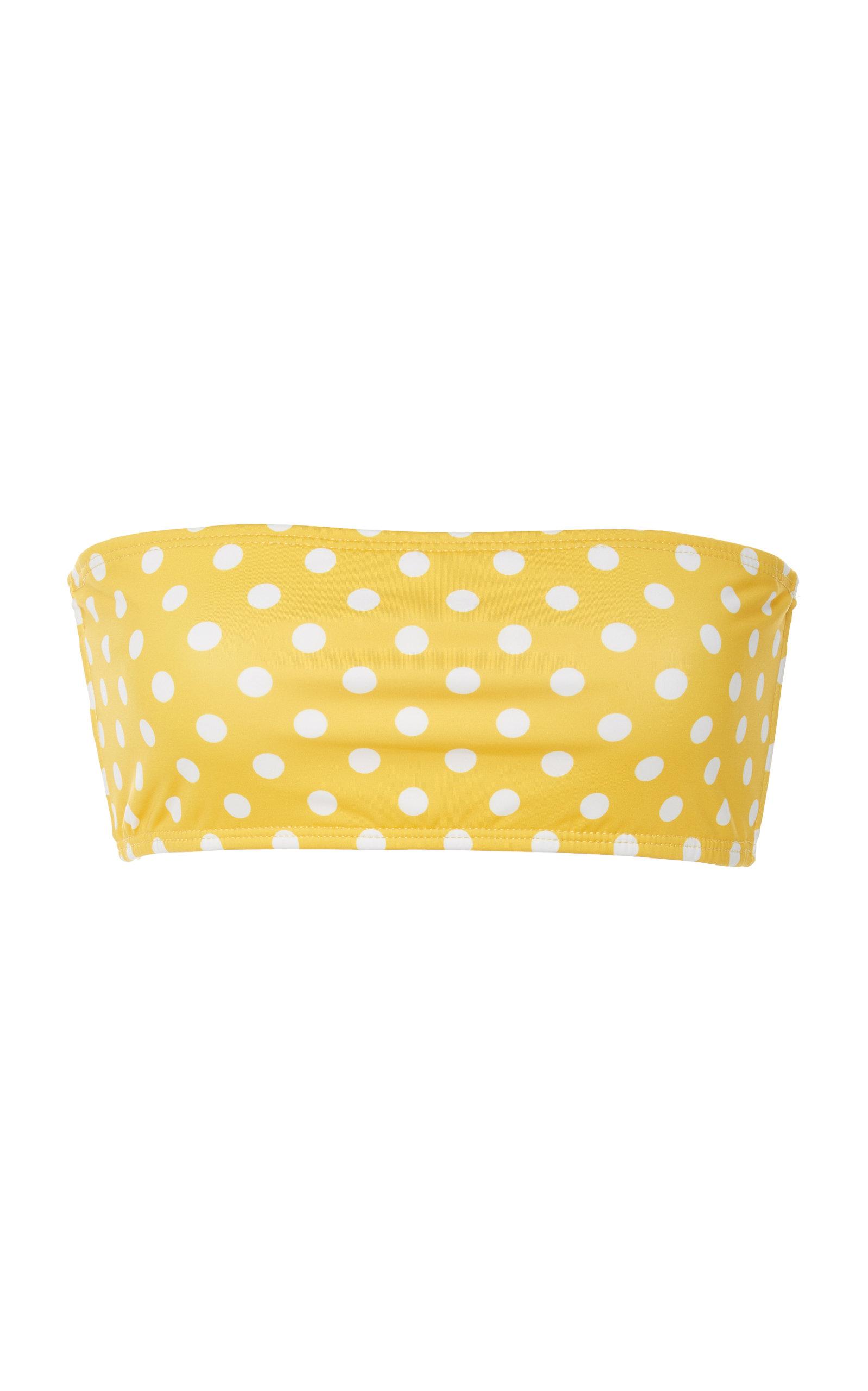 VERDE LIMON Cabo Bandeau Bikini Top in Yellow