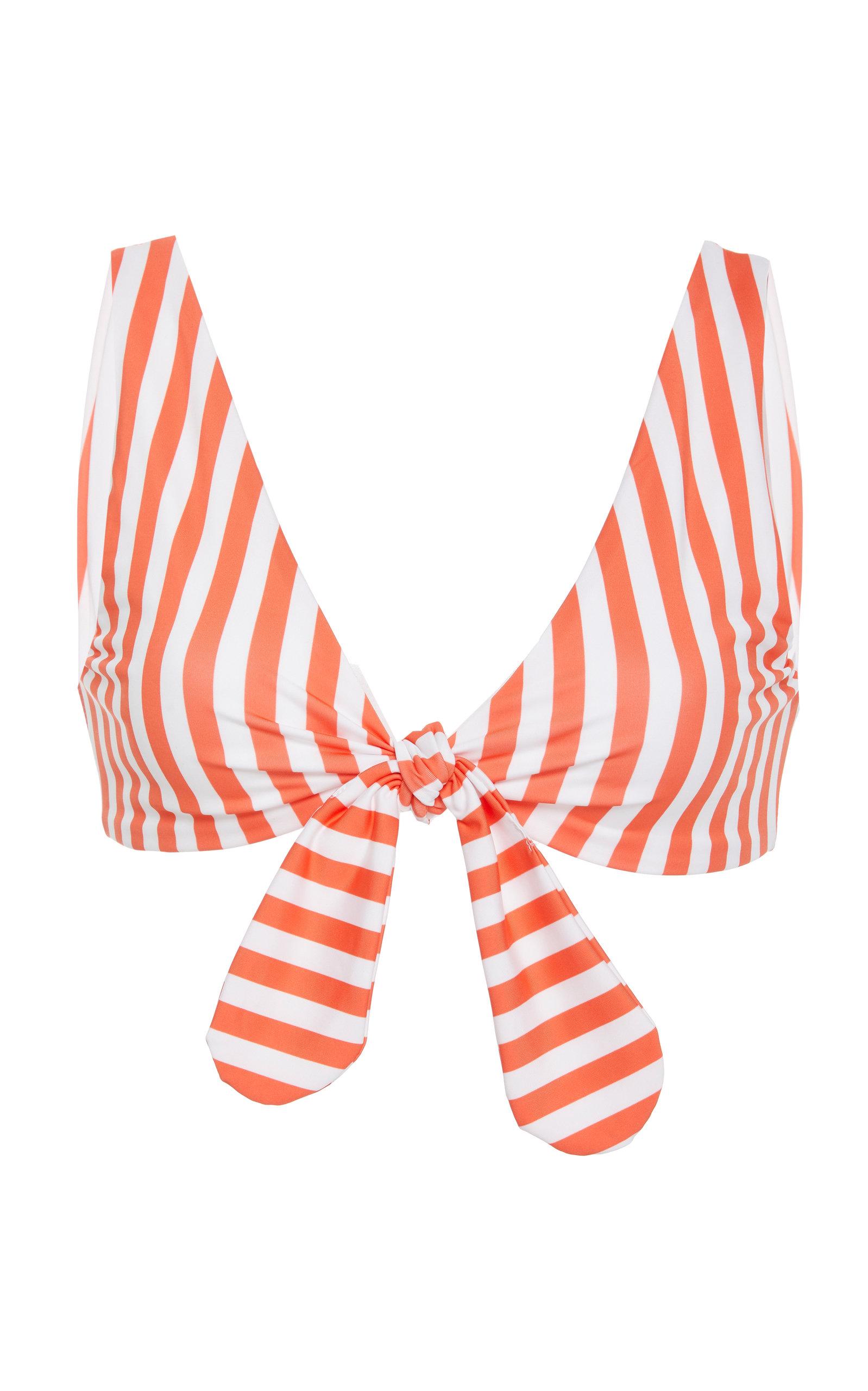 VERDE LIMON California Knotted Bikini Top in Red