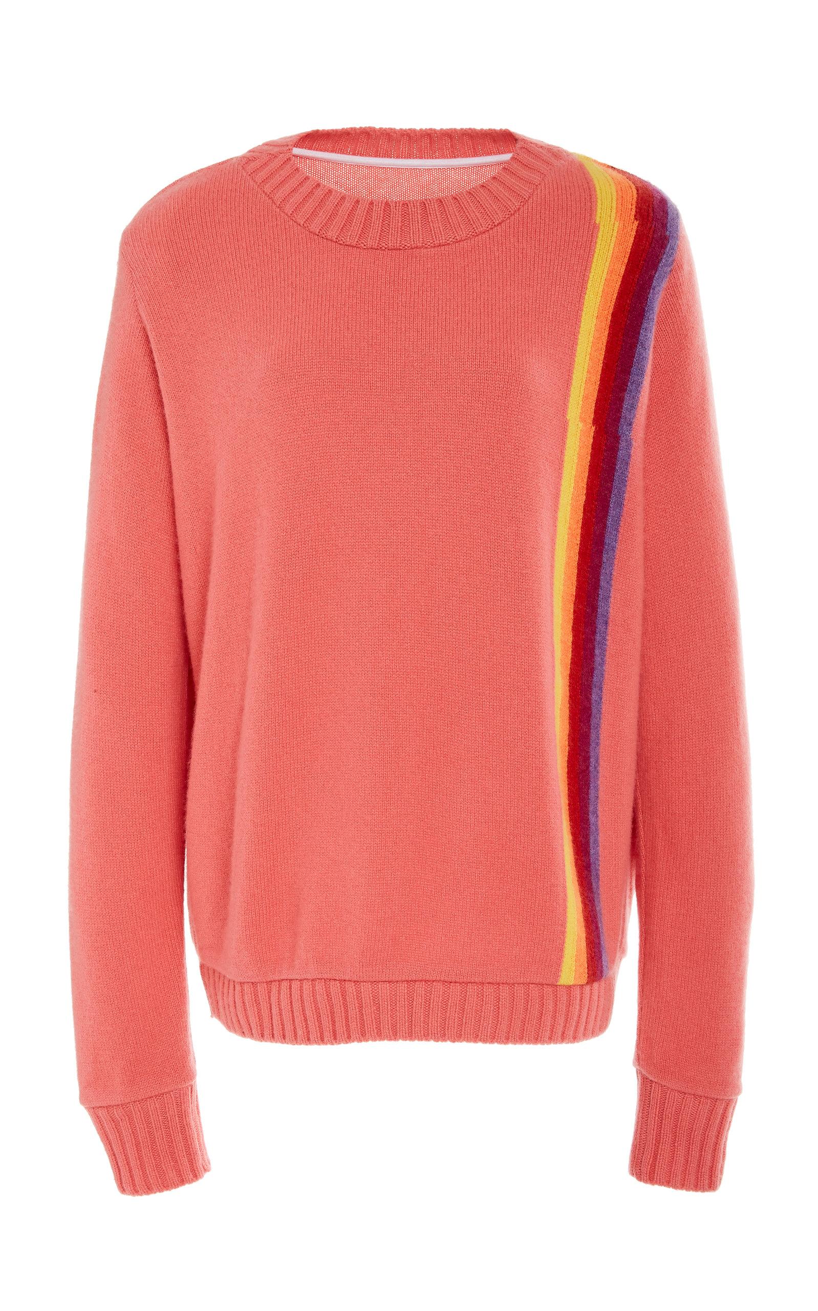 THE ELDER STATESMAN | The Elder Statesman Regular Intarsia Stripe Cashmere Sweater | Goxip