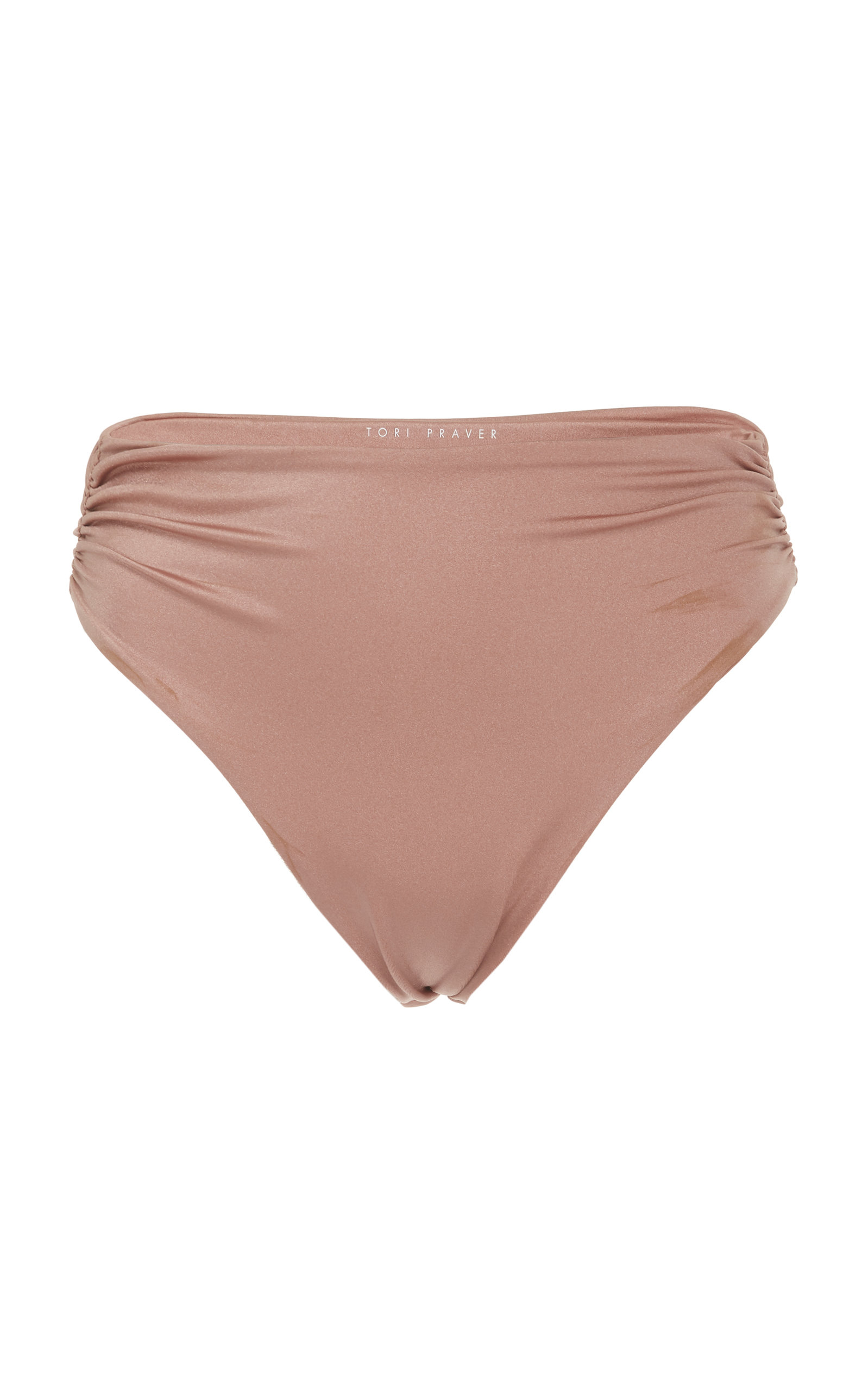 TORI PRAVER Symone Rosy High Waist Cheeky Bottom in Pink