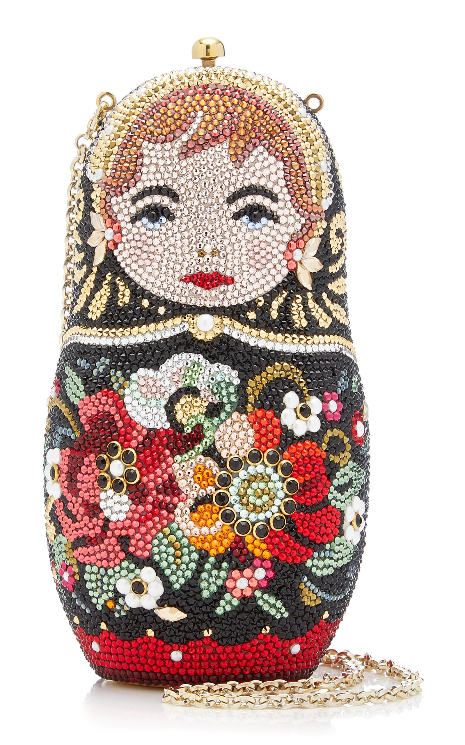 Judith Leiber Clutch CRYSTAL-EMBELLISHED DOLL CLUTCH