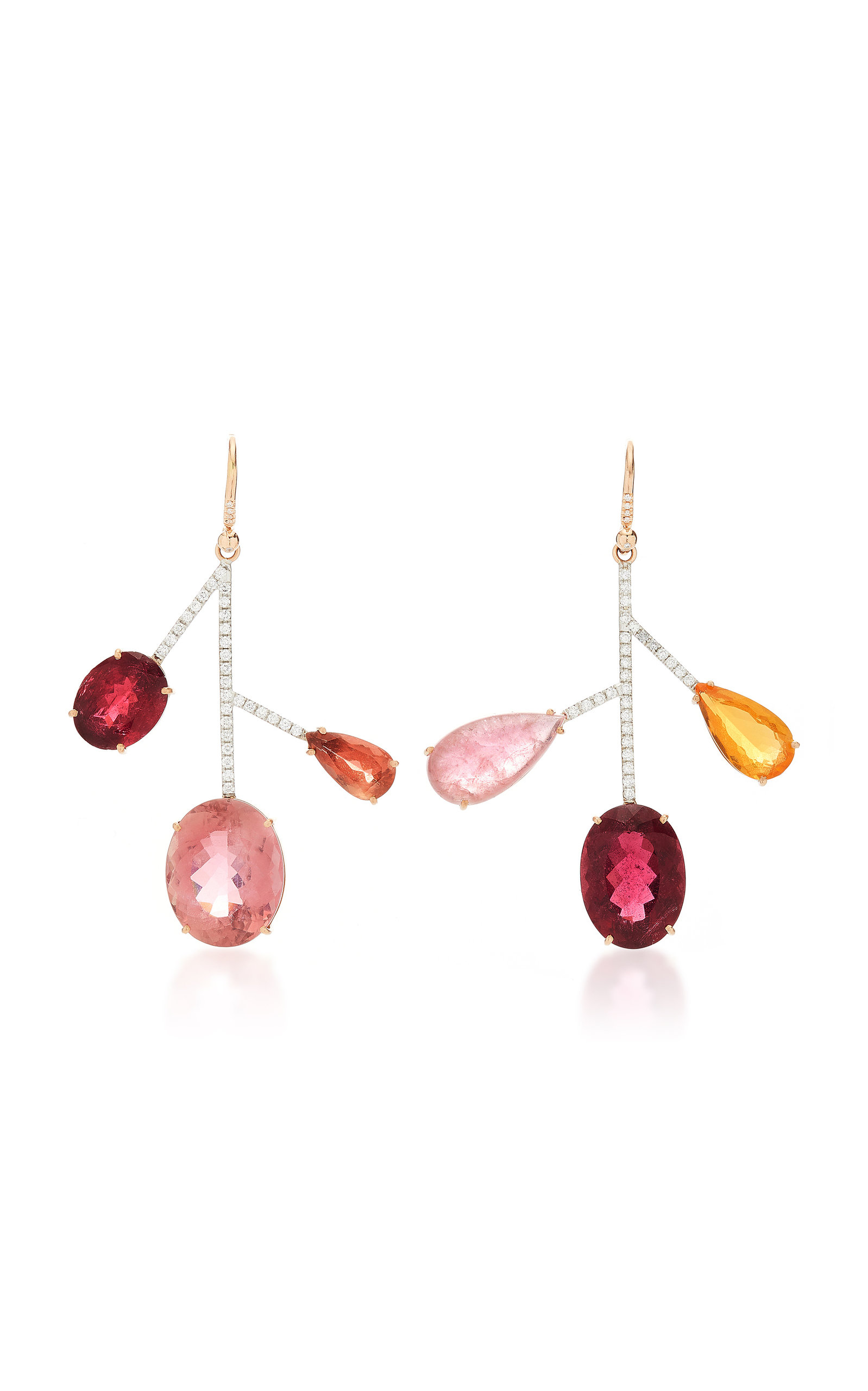 d12823138 One-Of-A-Kind 18K Gold Pink Tourmaline Earrings by Irene Neuwirth ...