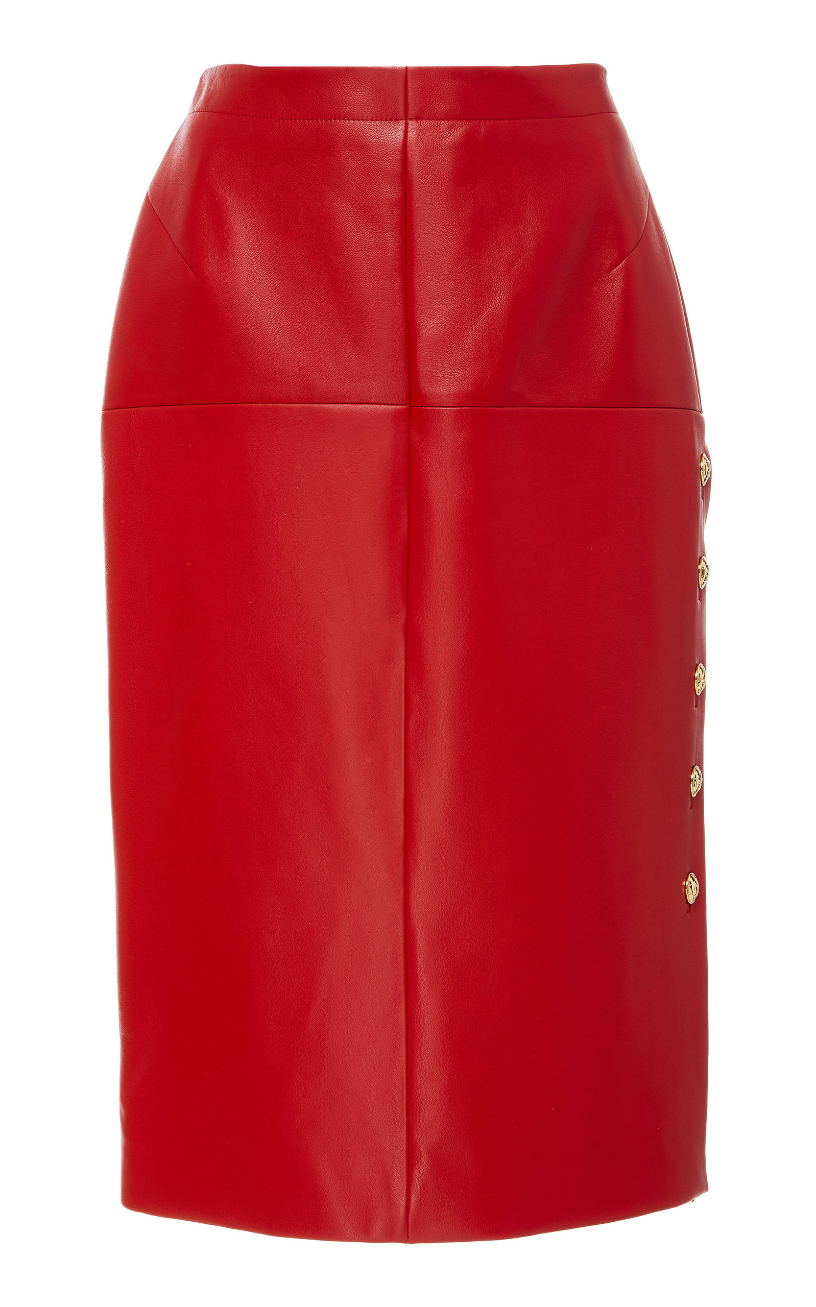 91be6ef322 Escada Laria Leather Pencil Skirt In Red | ModeSens