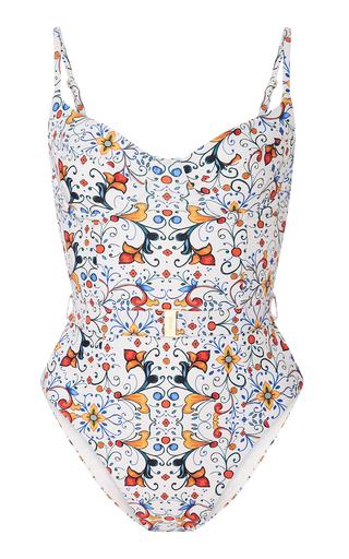 5f2b4a675e WeWoreWhat Belted Bandana-Print Swimsuit by Onia   Moda Operandi