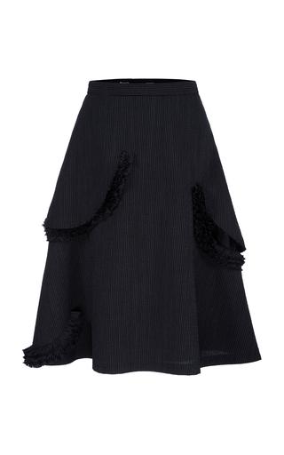 BOURIE | Bourie Ruffled Gabardine Midi Skirt | Goxip