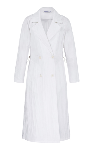 BOURIE | Bourie Double Breasted Shell Trench Coat | Goxip