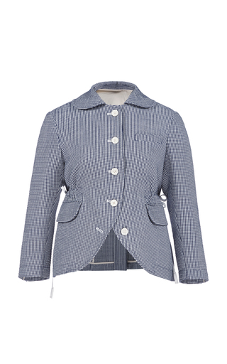BOURIE | Bourie Curved Gingham Twill Jacket | Goxip