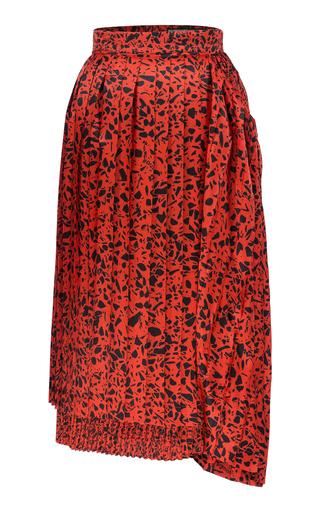 BOURIE | Bourie Layered Printed Midi Skirt | Goxip