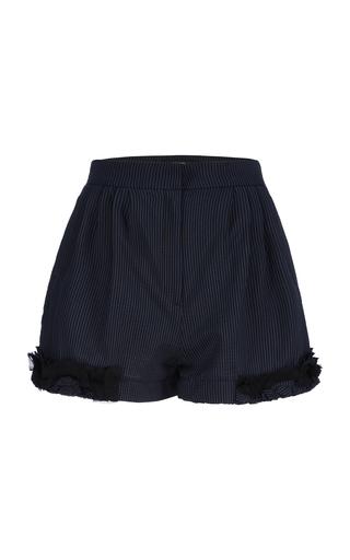 BOURIE | Bourie Ruffled Wool-Blend Shorts | Goxip
