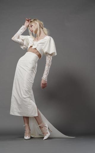 ELIZABETH FILLMORE | Elizabeth Fillmore Nick Silk Pencil Skirt | Goxip