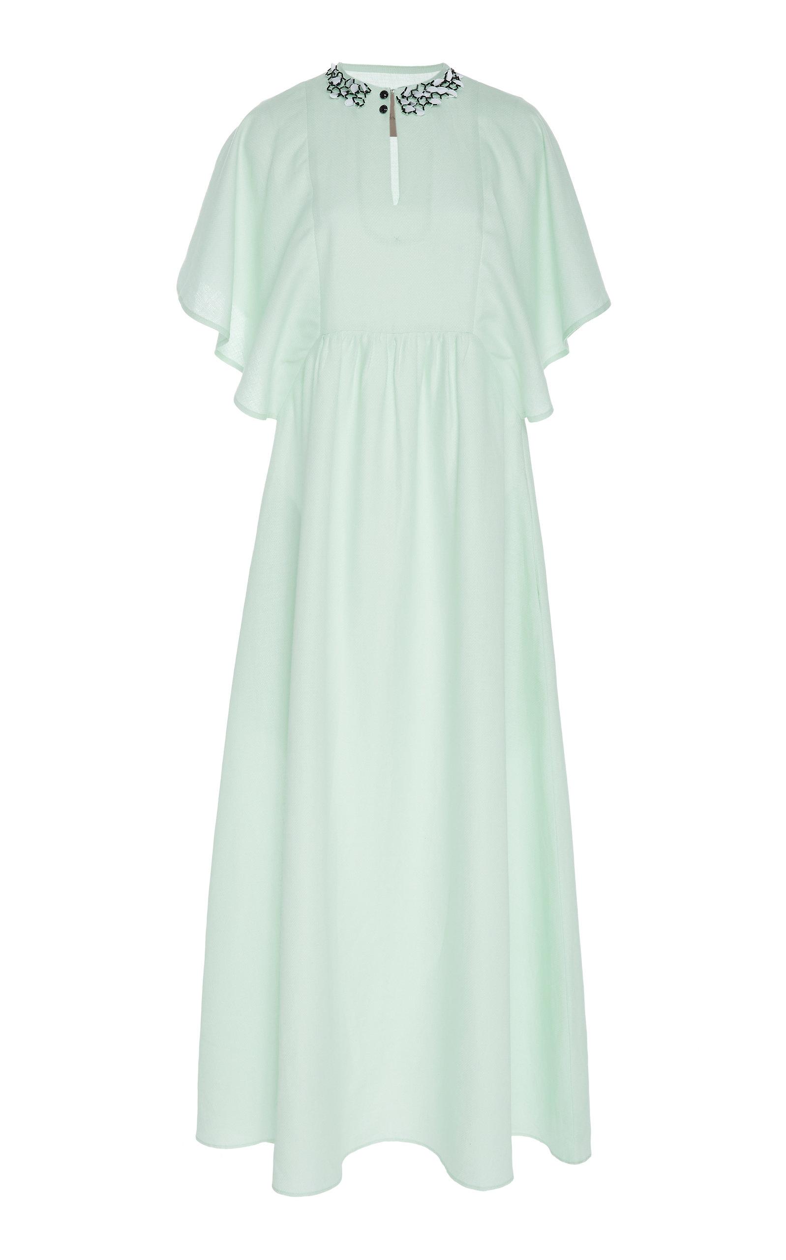 CHADOR Linen Marion A Maxi Dress in Green