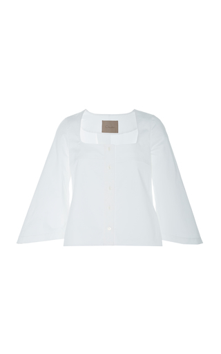 CHADOR | Chador Rosie Cotton Blouse With Flared Sleeves | Goxip