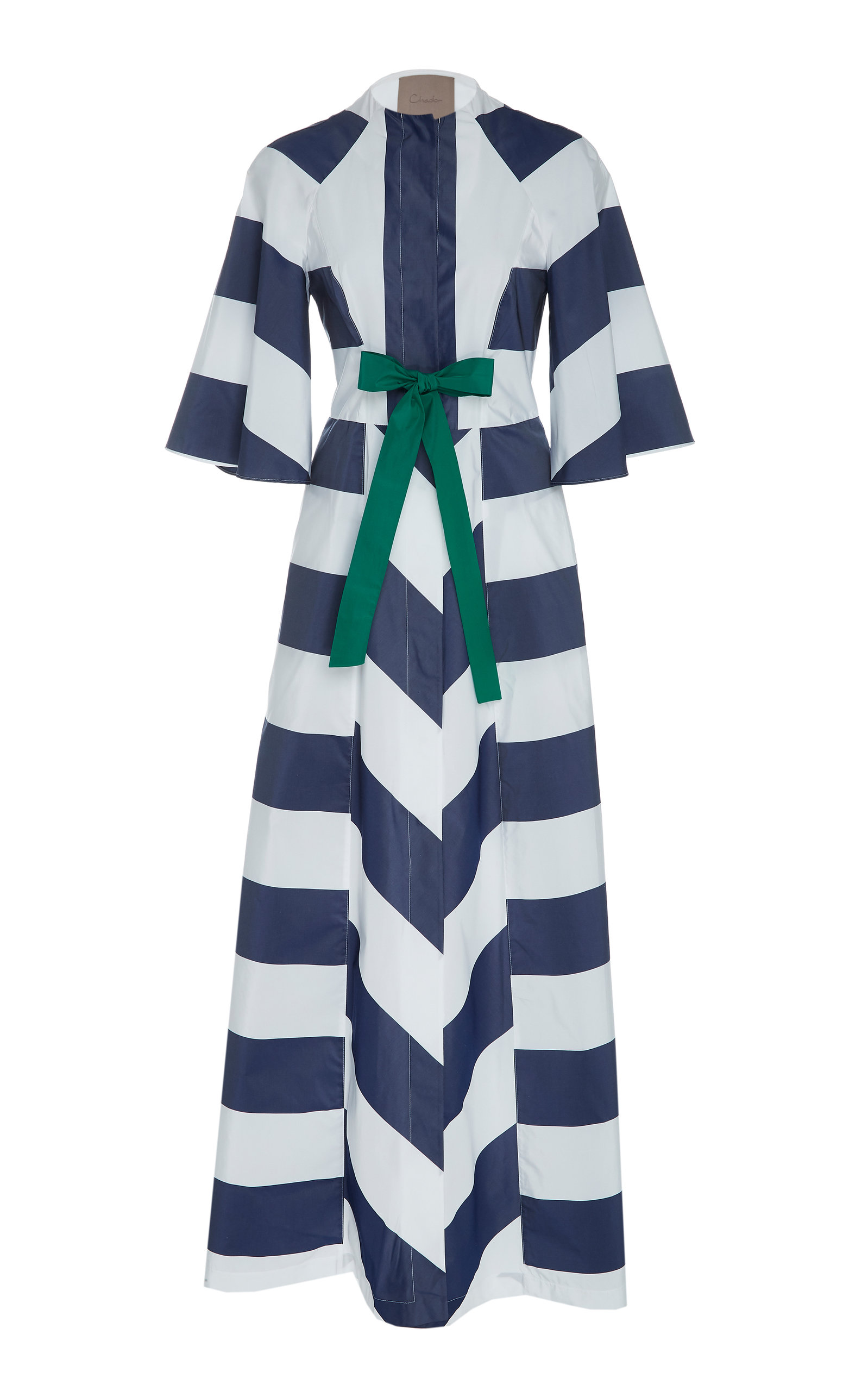 CHADOR Ruby B Printed Maxi Dress in Stripe