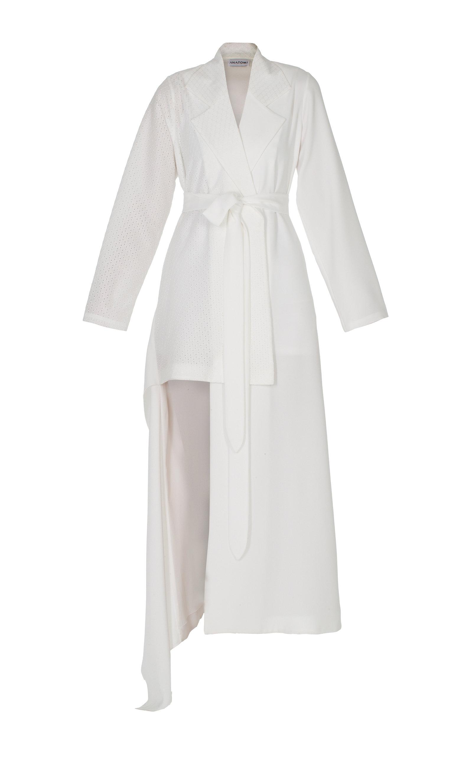 ANATOMI Freesia Asymmetrical Blazer With Tie Front in White