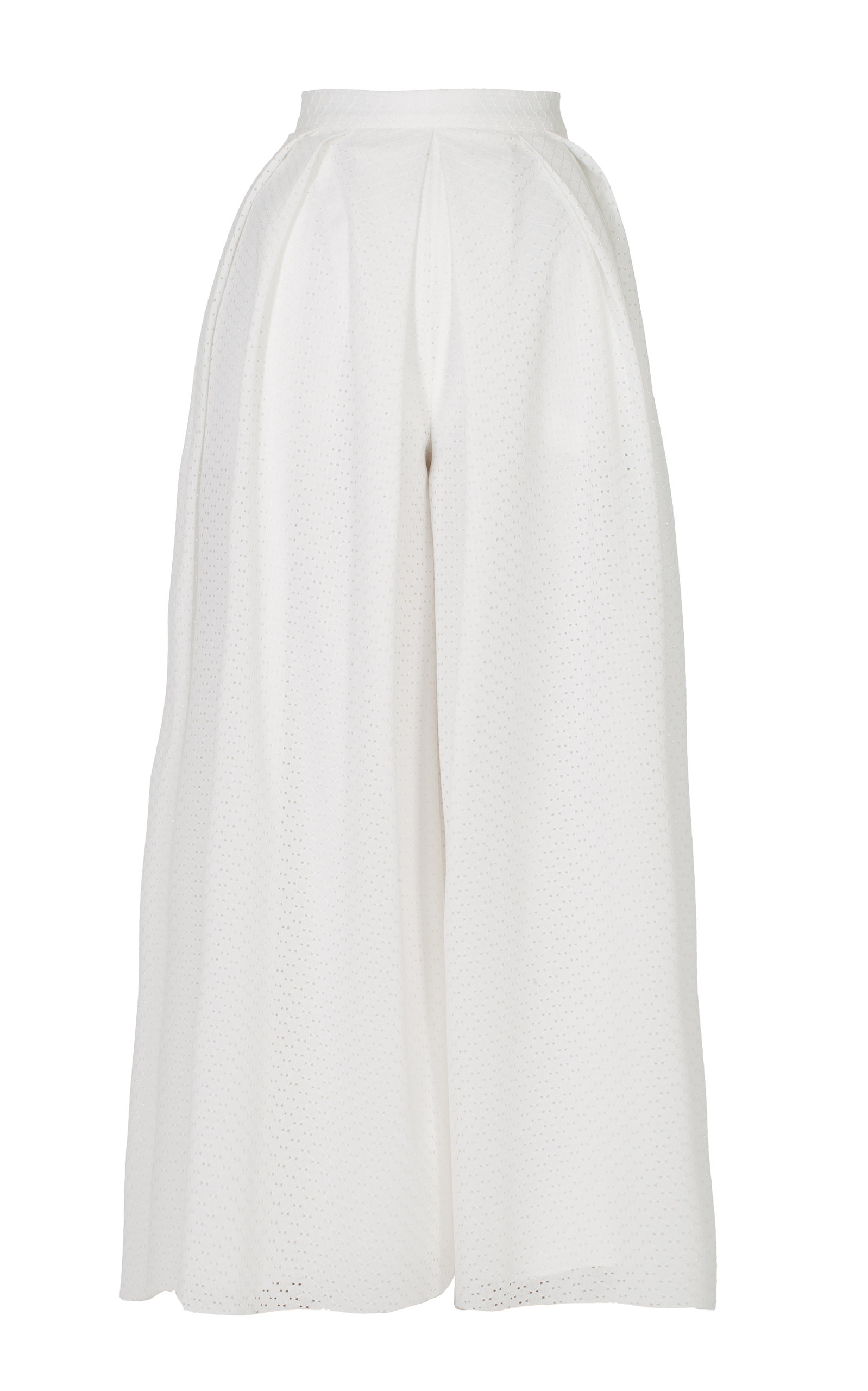 ANATOMI Magnolia Pleated High Waisted Pant in White