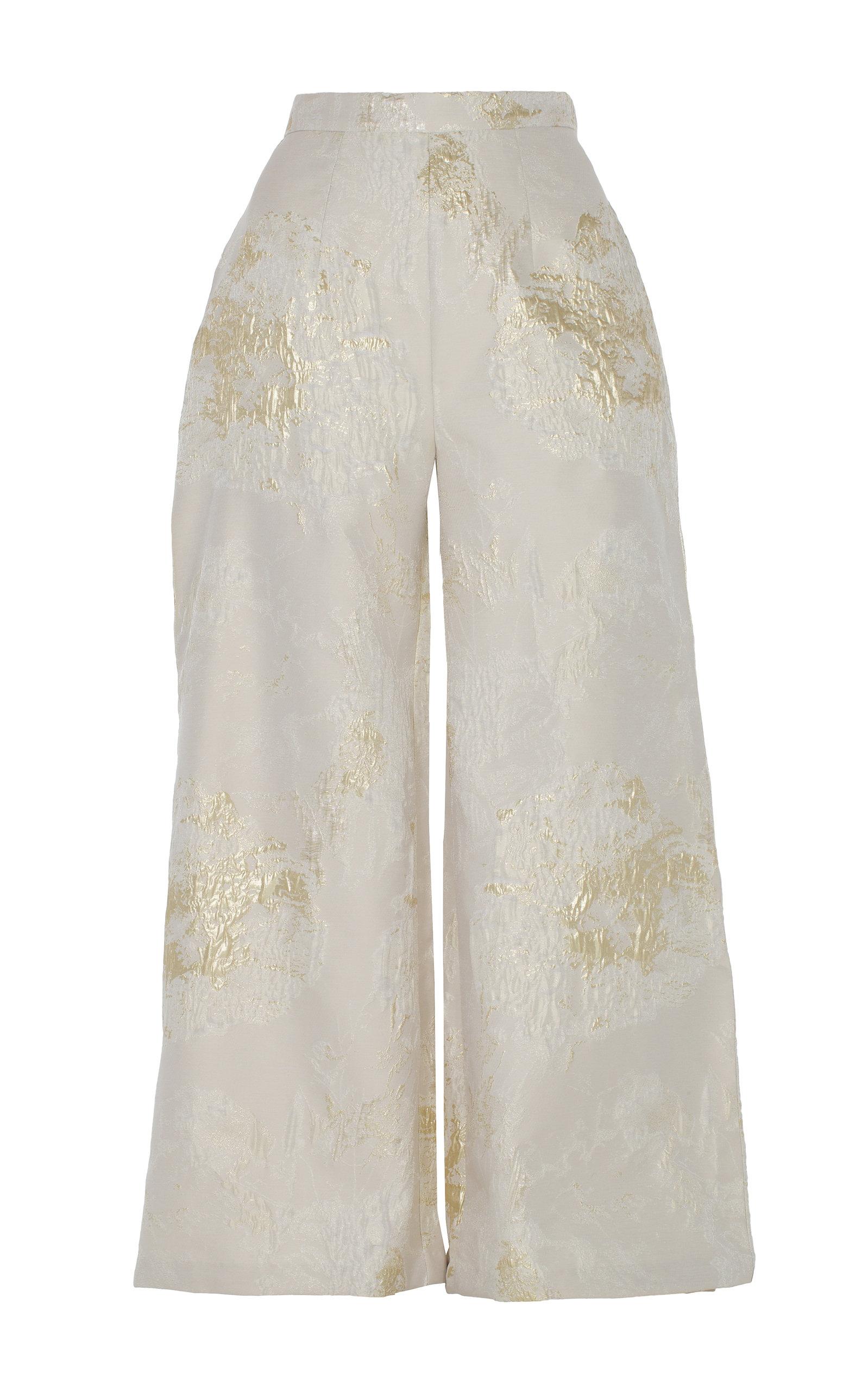 ANATOMI Brocade Iii High Waisted Pants in Gold