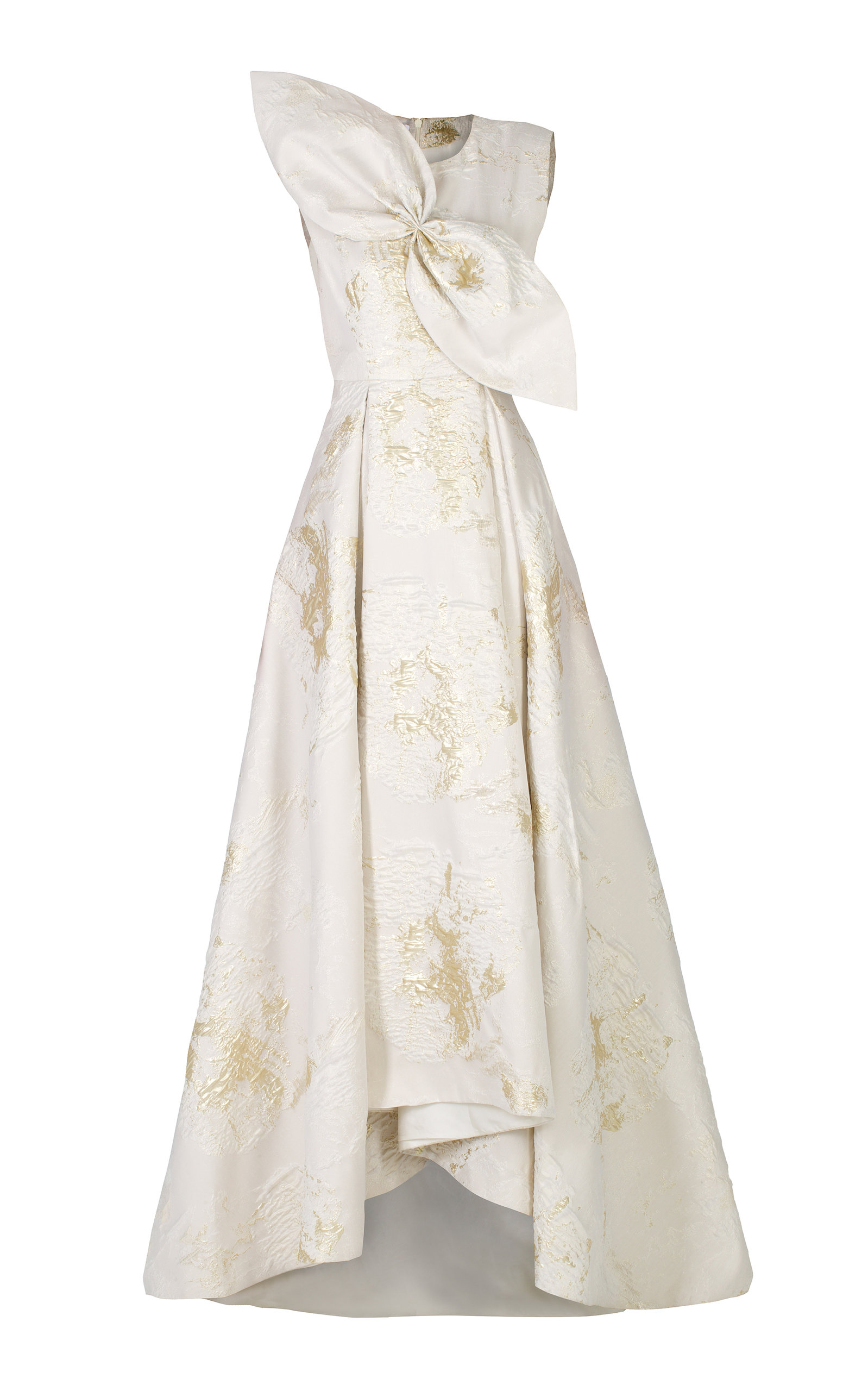 ANATOMI Brocade I Pleated Dress in Gold