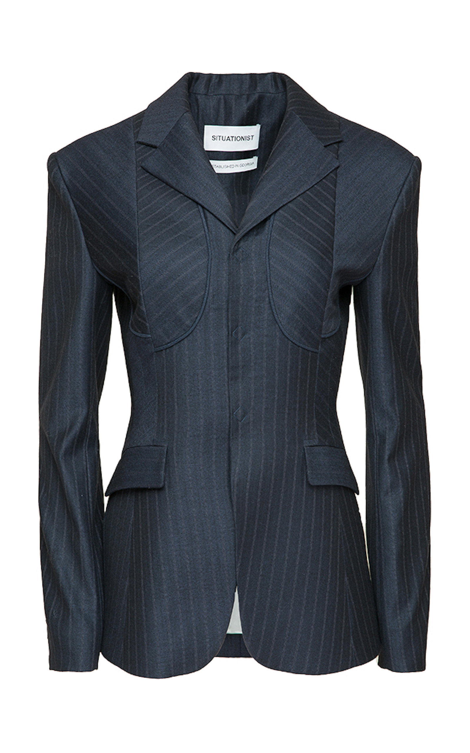 SITUATIONIST Classic Wool Blazer in Blue
