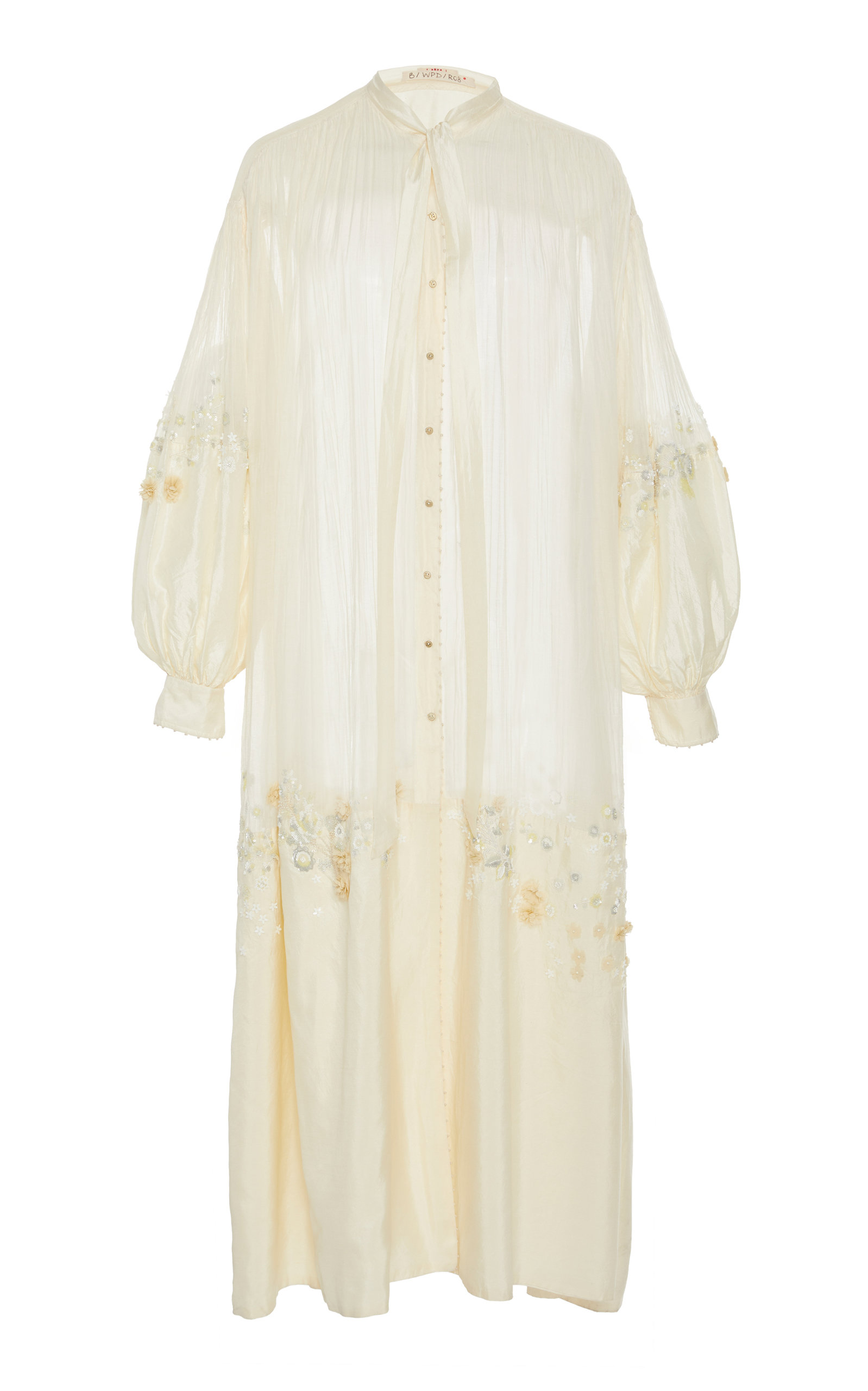 PÉRO Embellished Cotton Dress in White