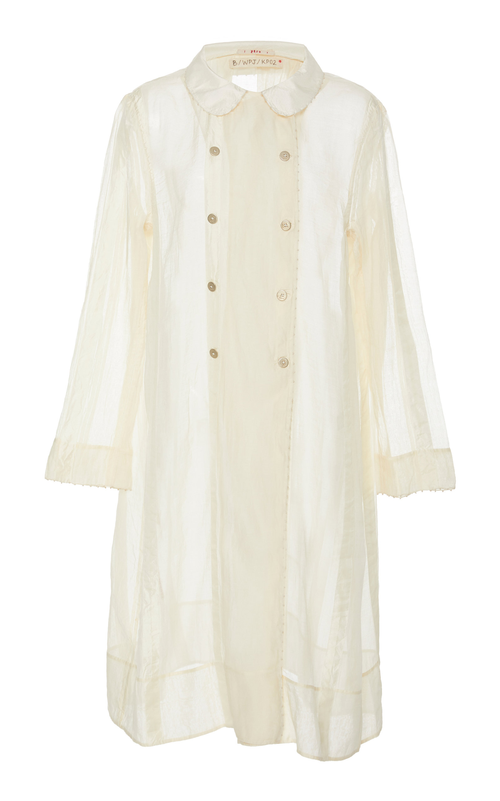 PÉRO Relaxed Cotton Jacket in White