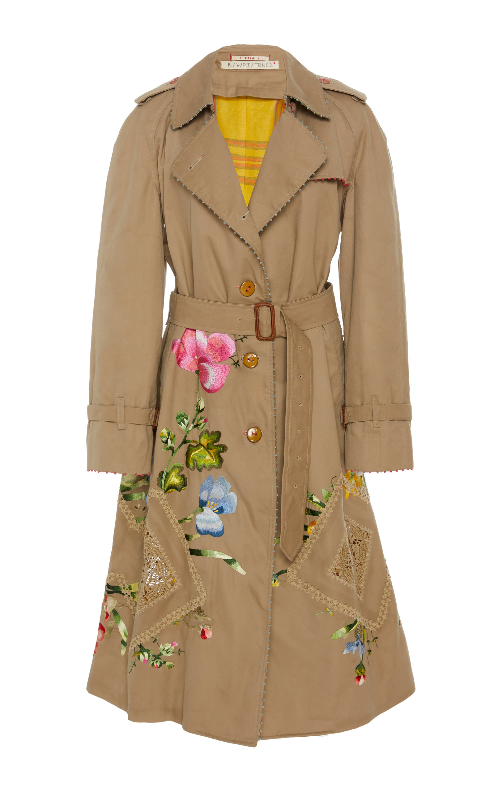 PÉRO Upcycled Cotton Trench Coat in Neutral