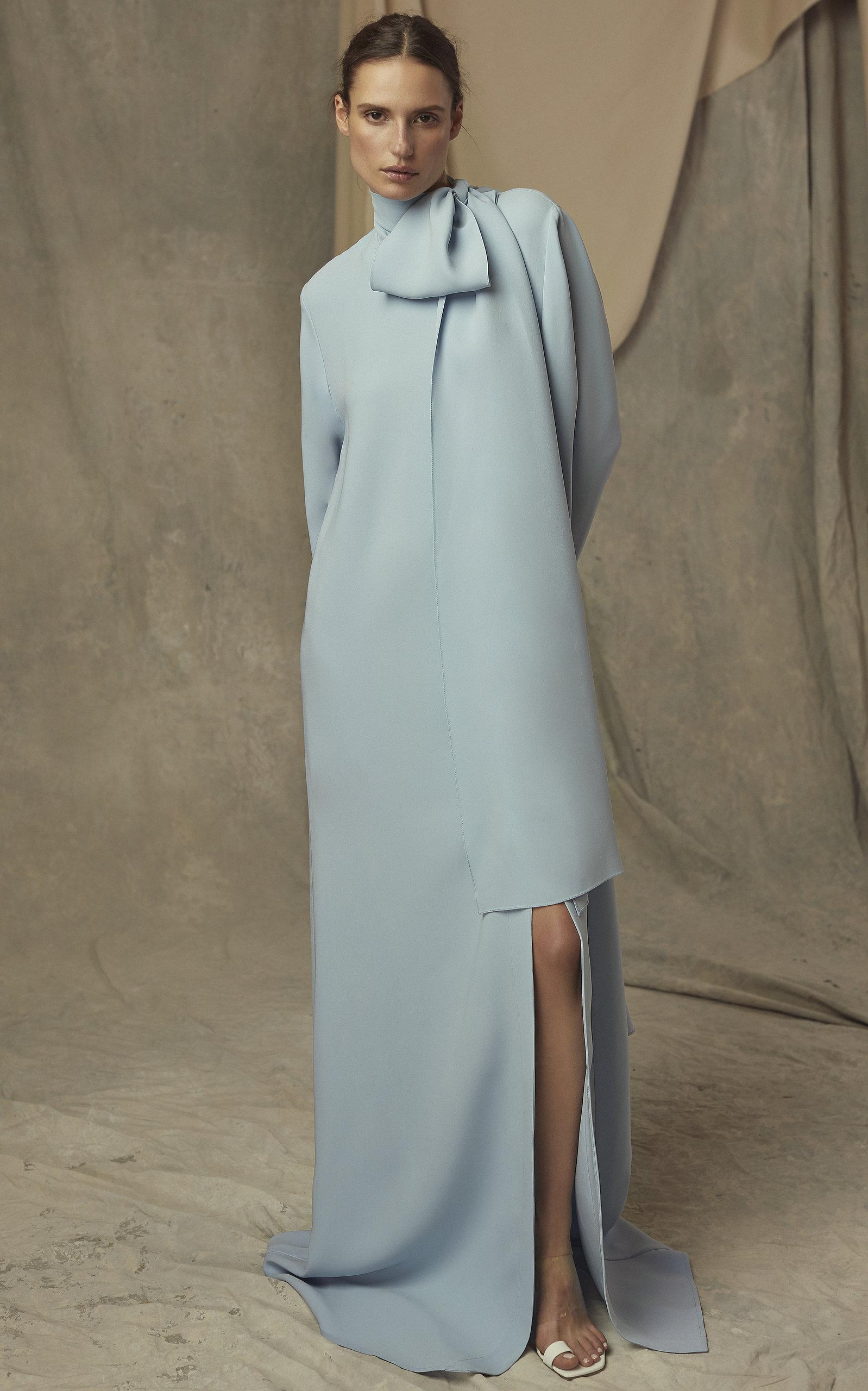 4e8ba47953786 Exclusive Oversized Silk Maxi Dress by Carolina Herrera   Moda Operandi