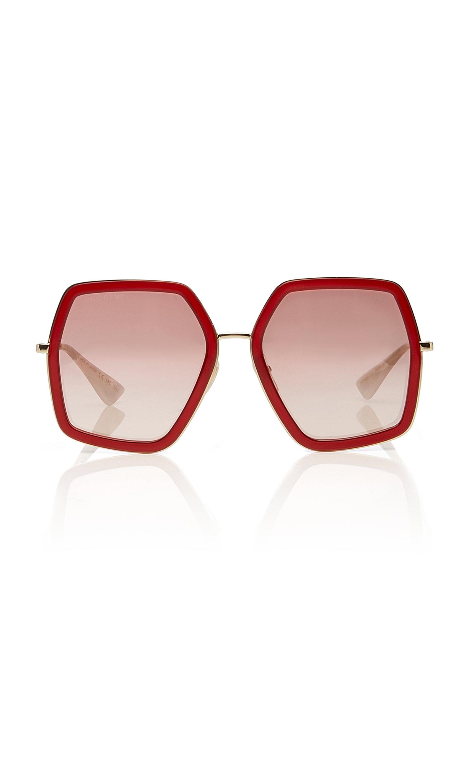 c30fc0d78faa Hexagon-Frame Metal Sunglasses by Gucci | Moda Operandi