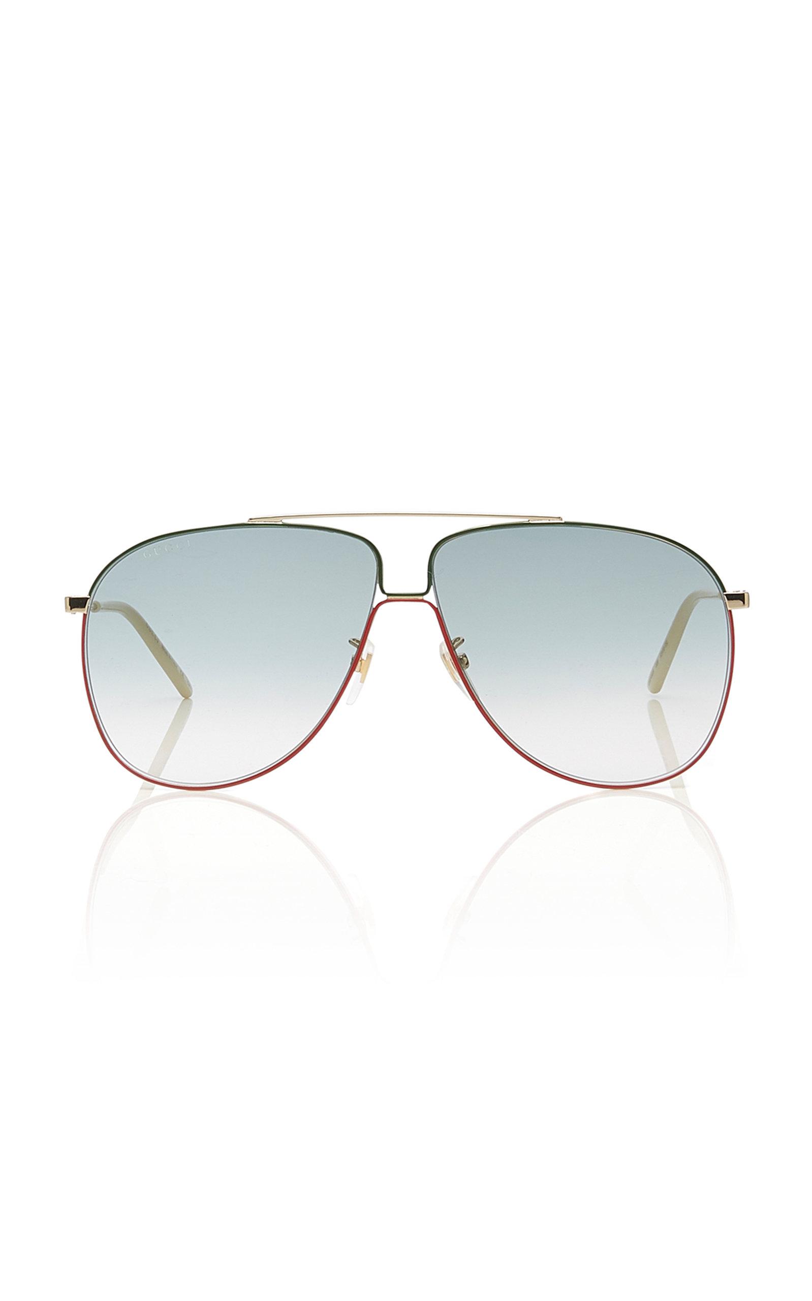 6bd392c62 Aviator-Style Metal Sunglasses by Gucci | Moda Operandi