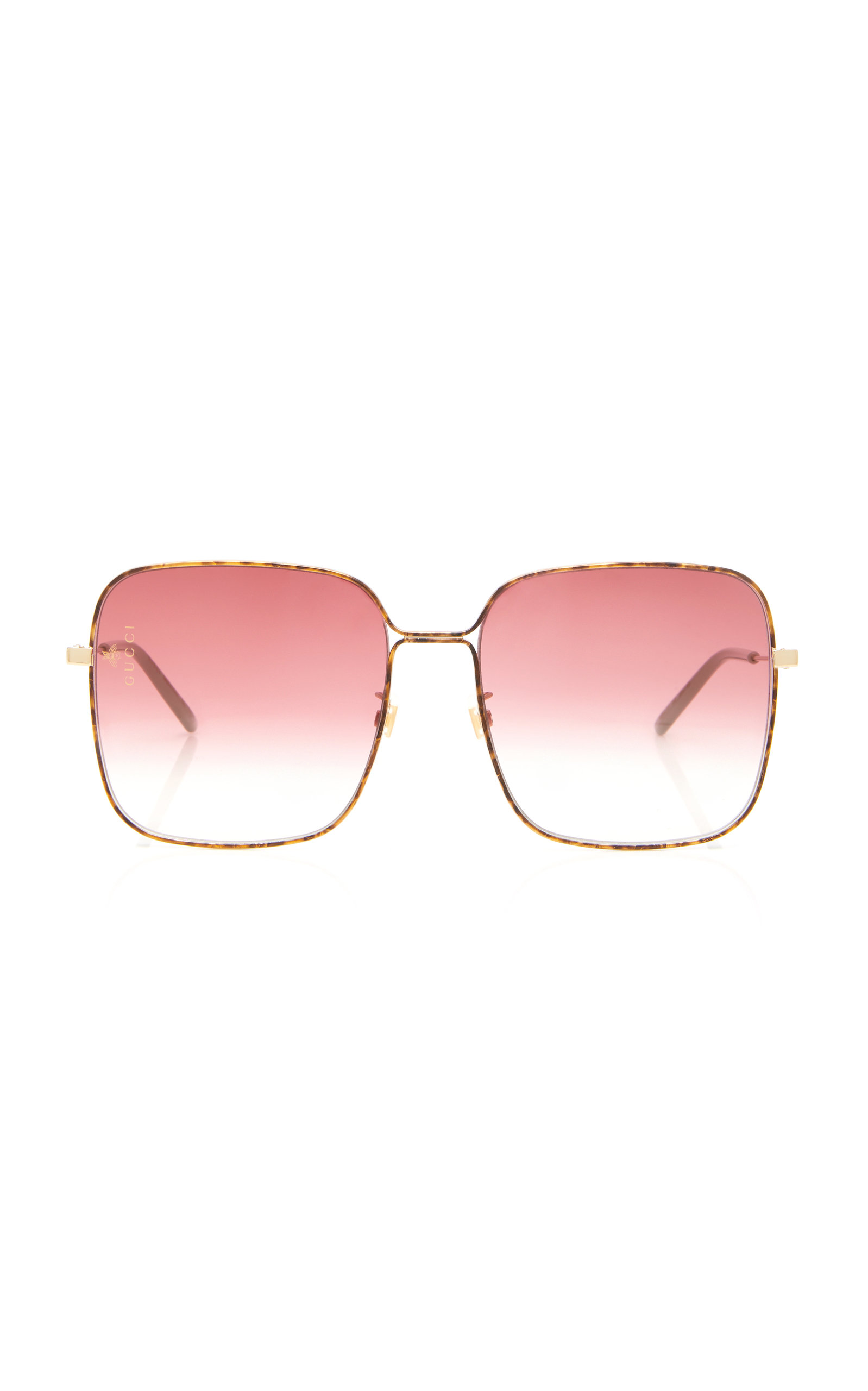 GUCCI | Gucci Sunglasses Light Glasant Oversized Metal Square-Frame Sunglasses | Goxip