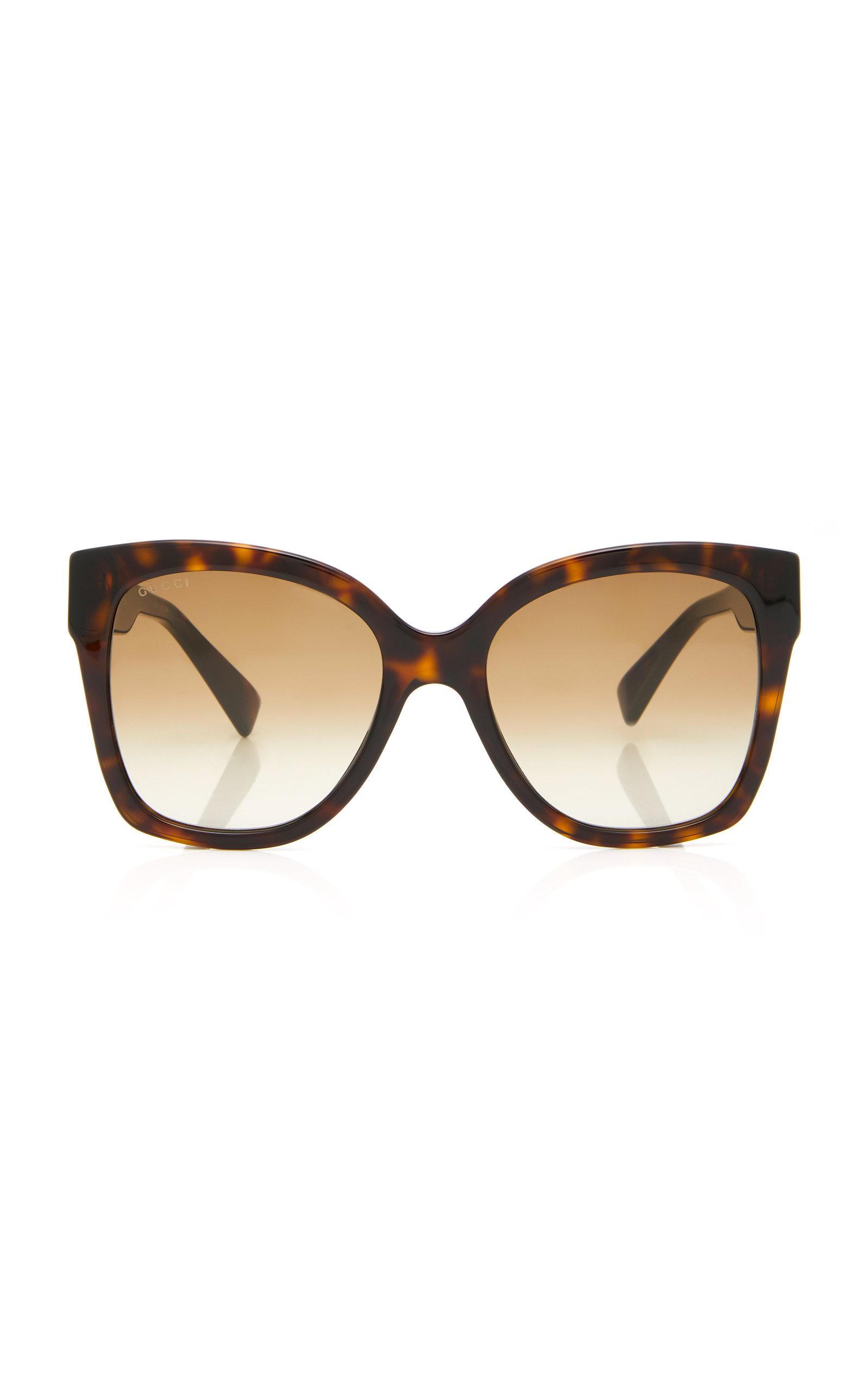 GUCCI | Gucci Sunglasses Web Plaque Oversized Acetate Square-Frame Sunglasses | Goxip